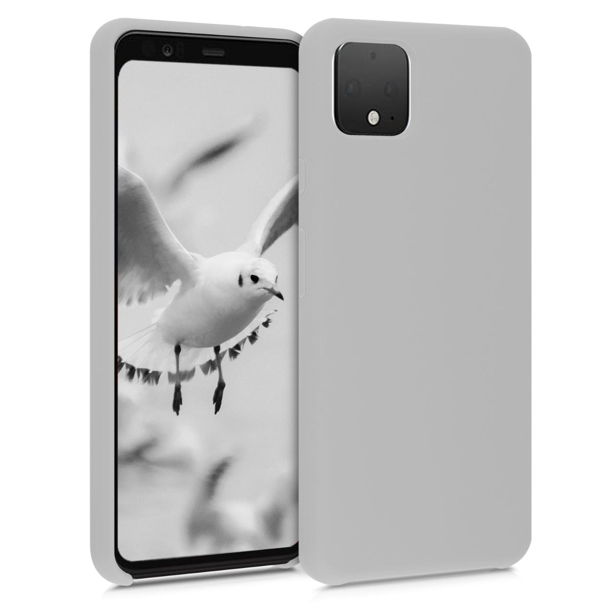 Kvalitní silikonové TPU pouzdro | obal pro Google Pixel 4 XL -  Světle šedá matná