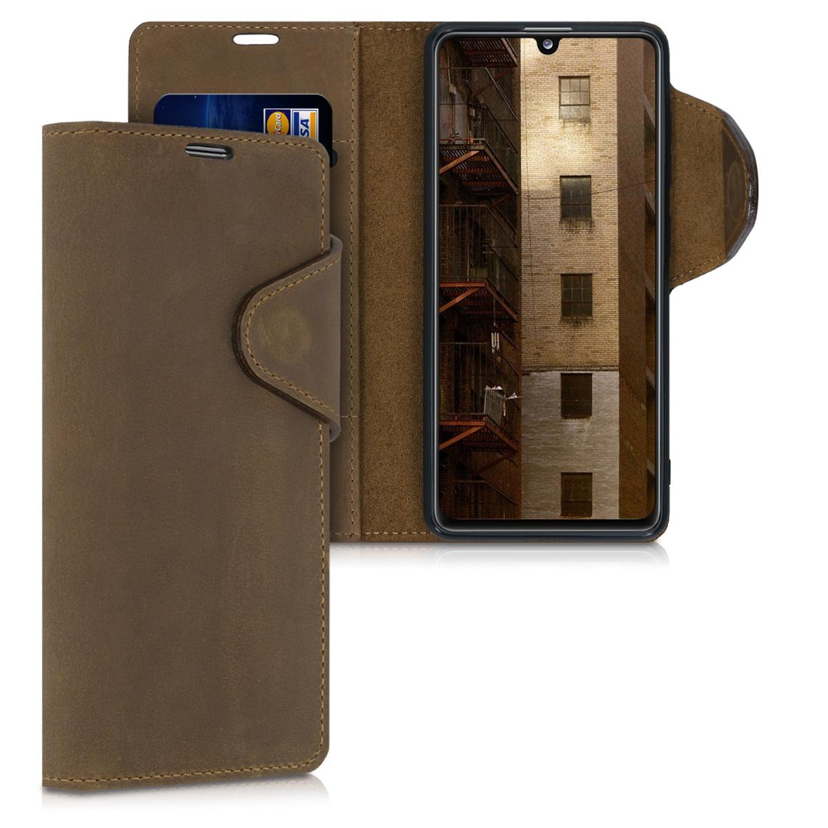 Kožené pouzdro pro Samsung A41 - Hnědý