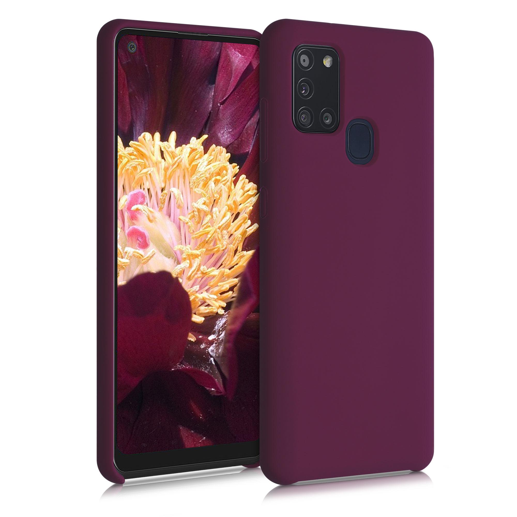 Kvalitní silikonové TPU pouzdro pro Samsung A21s - Bordeaux Violet
