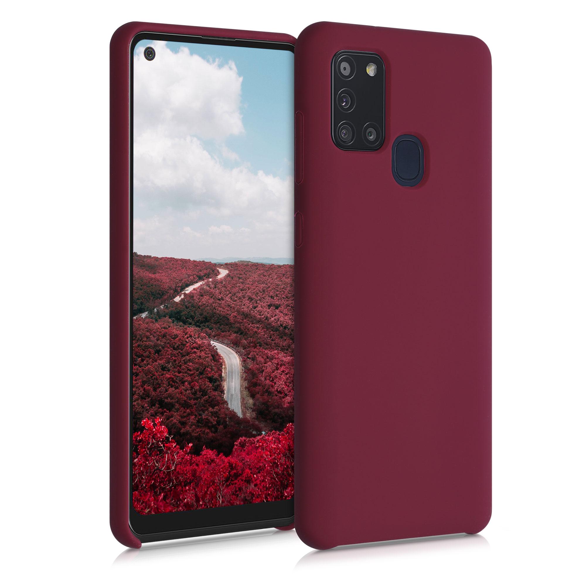 Kvalitní silikonové TPU pouzdro pro Samsung A21s - rebarbora Red
