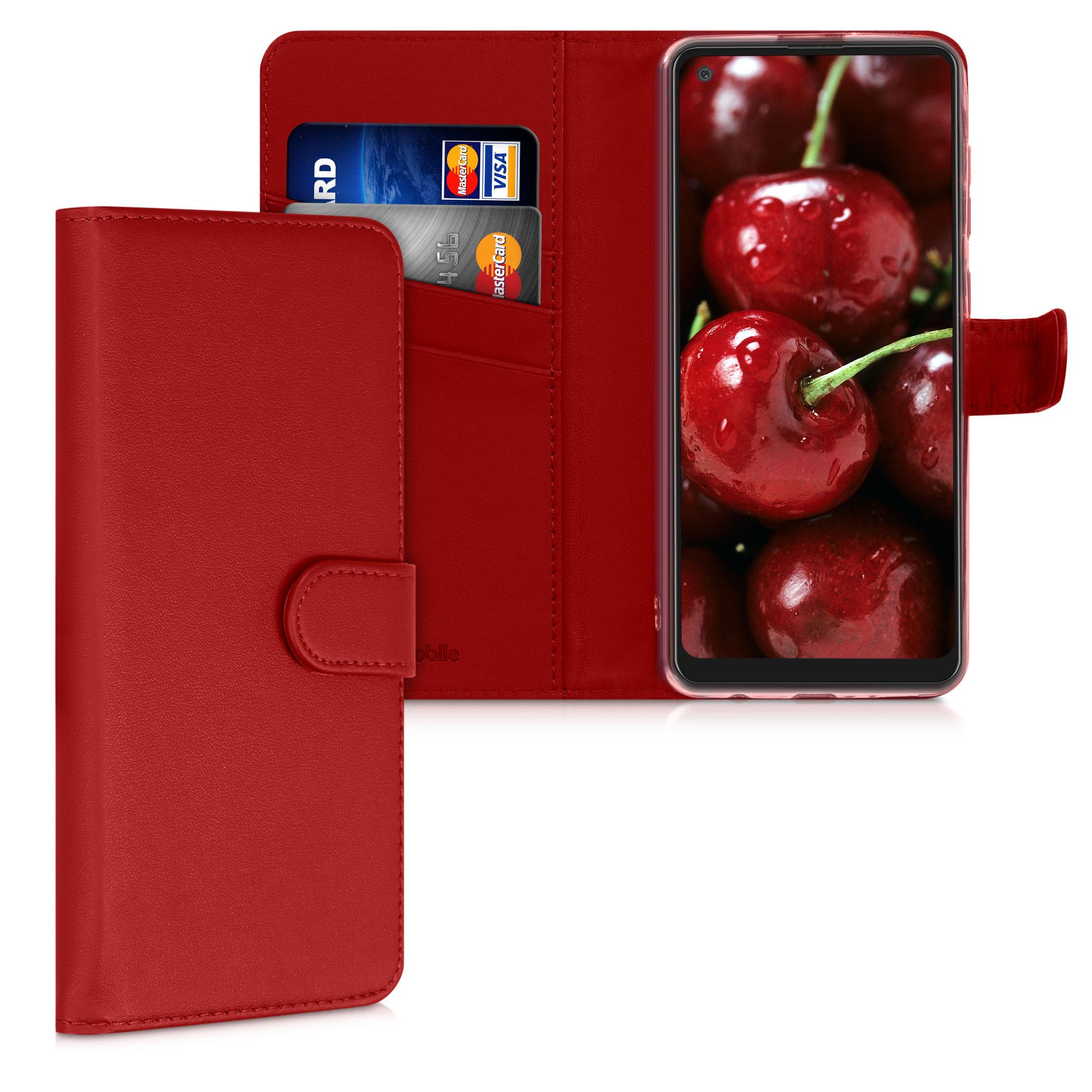 Kožené pouzdro pro Samsung A21s - Červené