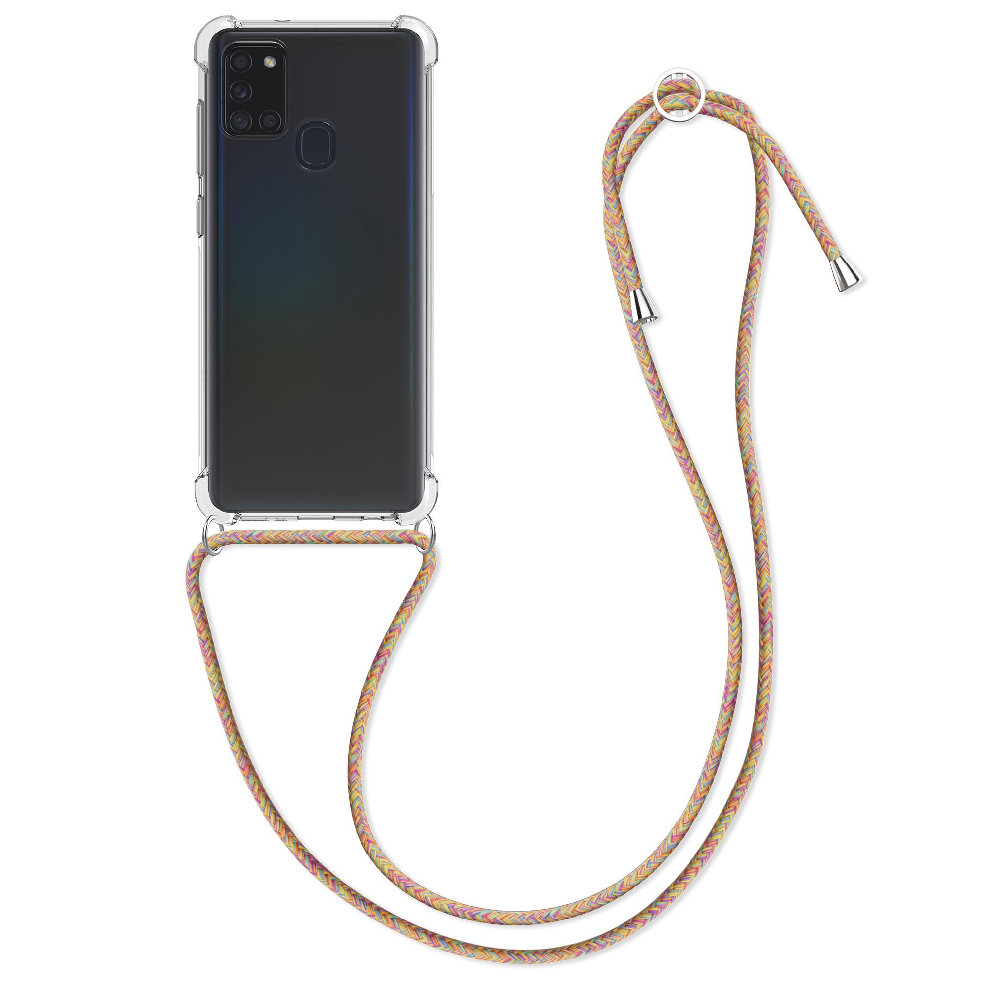 Kvalitní silikonové TPU pouzdro pro Samsung A21s - Vícebarevný / Transparent