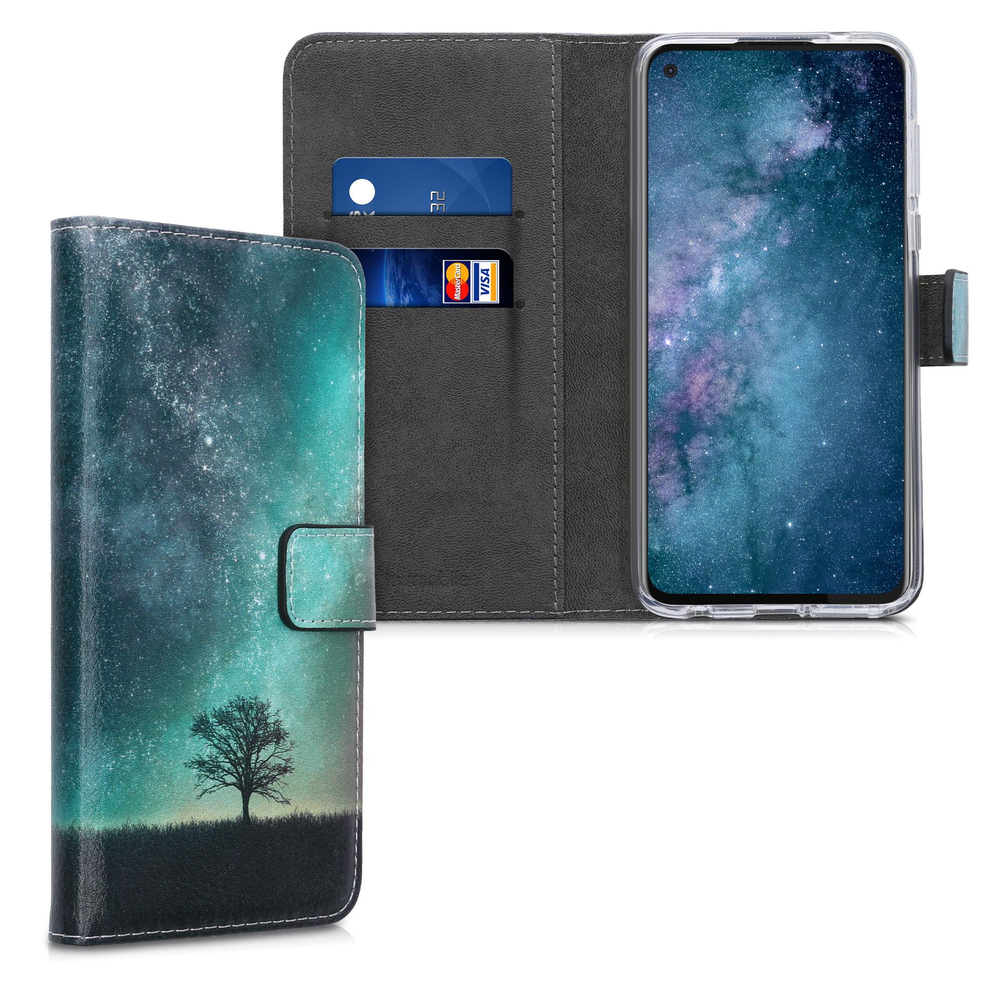 Kožené pouzdro | obal pro Motorola Moto G Pro (EU) / Moto G Stylus (US) - Kosmická příroda Modrá / Šedá / Černá
