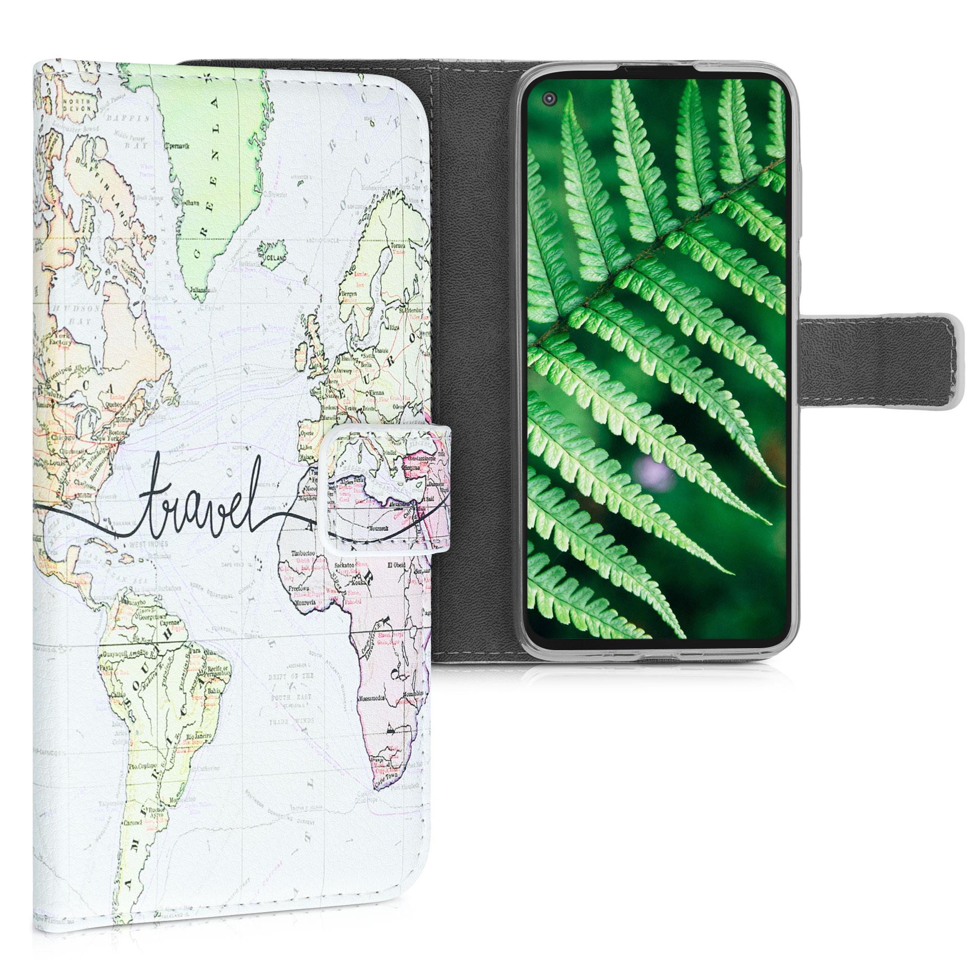 Kožené pouzdro | obal pro Motorola Moto G Pro (EU) / Moto G Stylus (US) - Cestovní černá / Vícebarevná