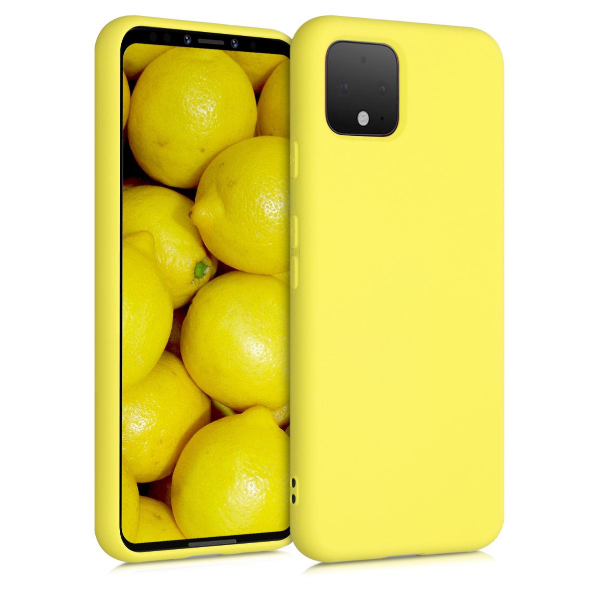 Kvalitní silikonové TPU pouzdro | obal pro Google Pixel 4 - Pastelově žlutá matná
