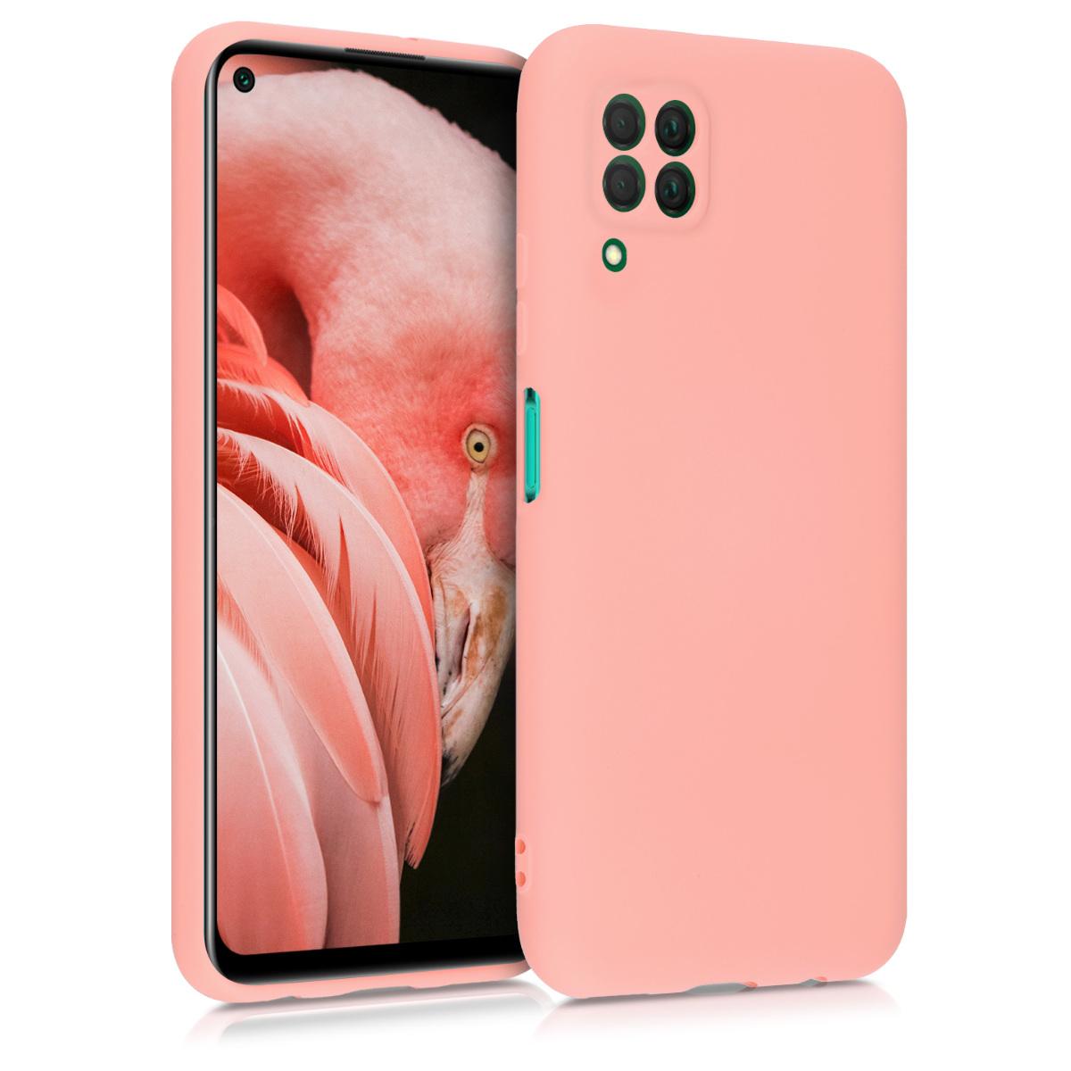 Světle růžové silikonové pouzdro / obal pro Huawei P40 Lite