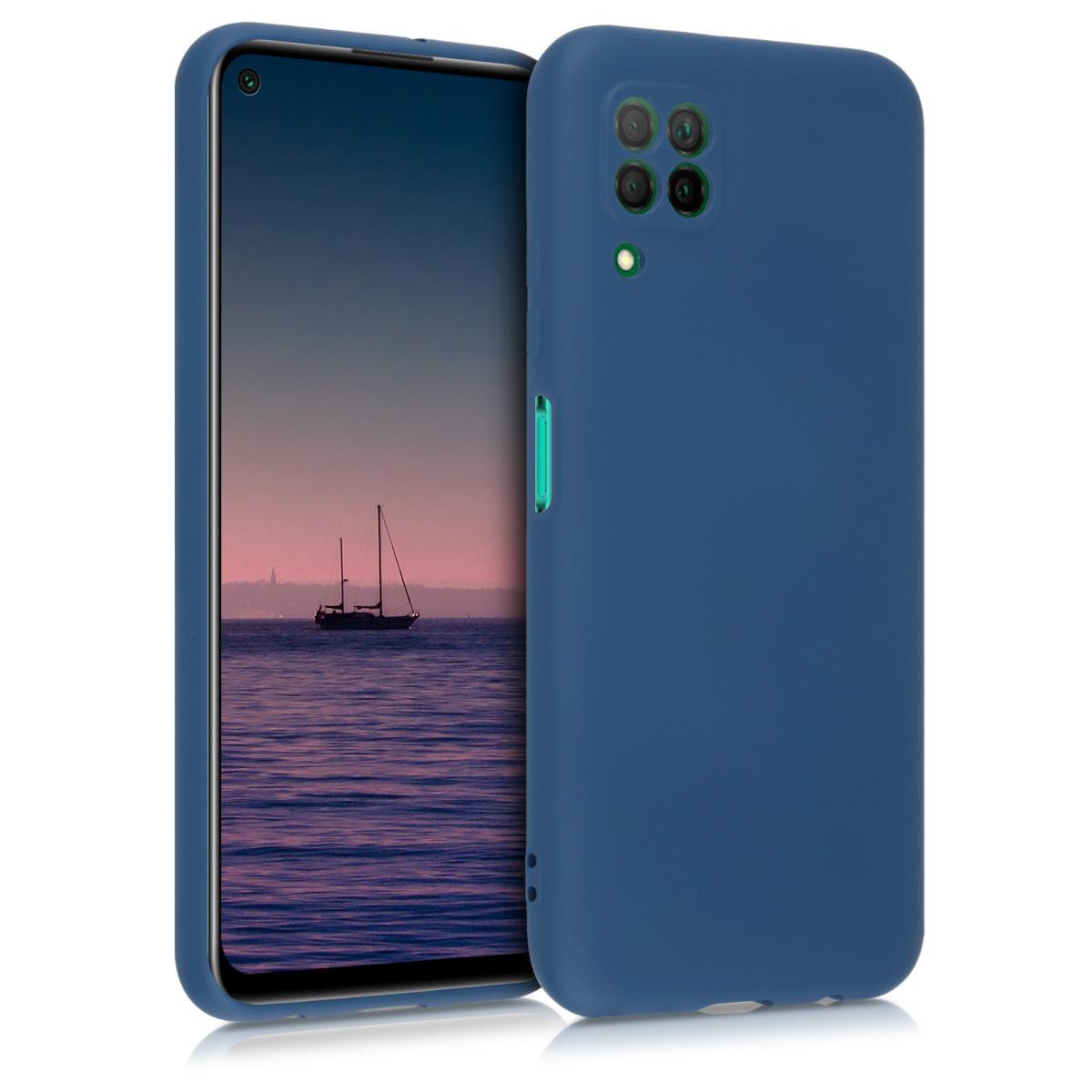 Tmavě modré silikonové pouzdro / obal pro Huawei P40 Lite