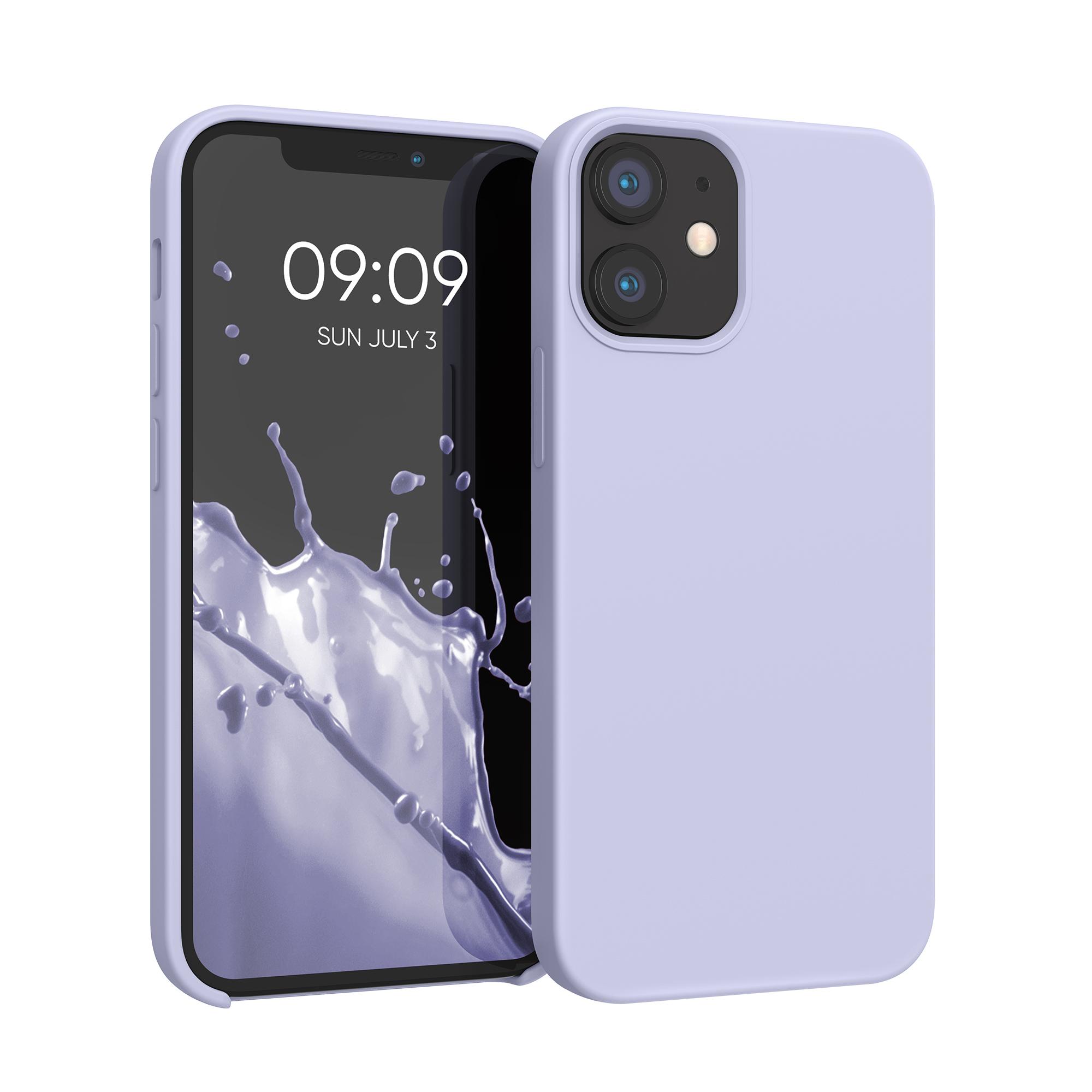 Kvalitní silikonové TPU pouzdro pro Apple iPhone 12 mini - Light Lavender