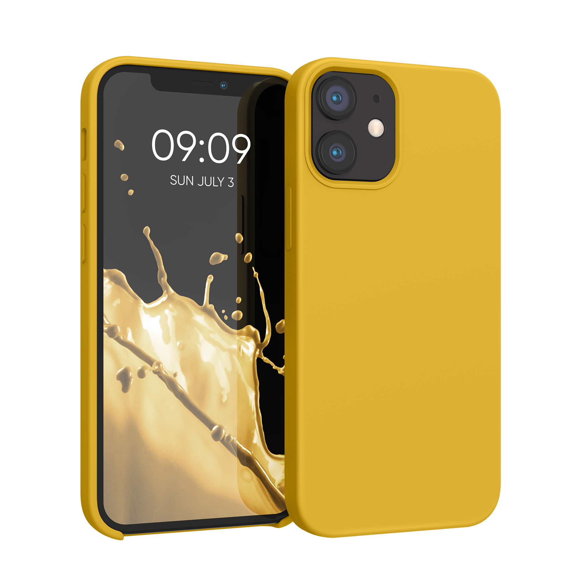 Kvalitní silikonové TPU pouzdro pro Apple iPhone 12 mini - Honey Yellow