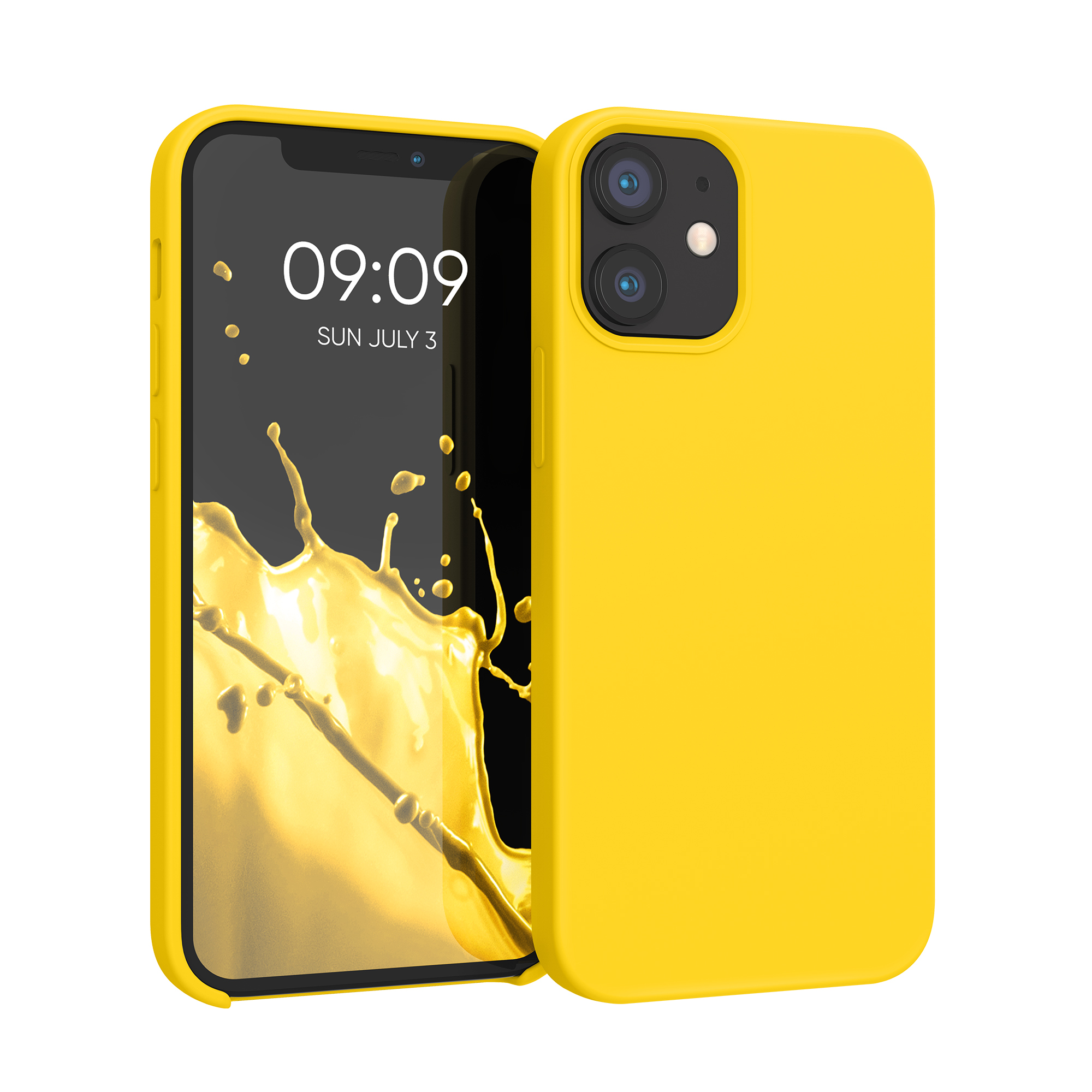 Kvalitní silikonové TPU pouzdro pro Apple iPhone 12 mini - Vibrant Yellow