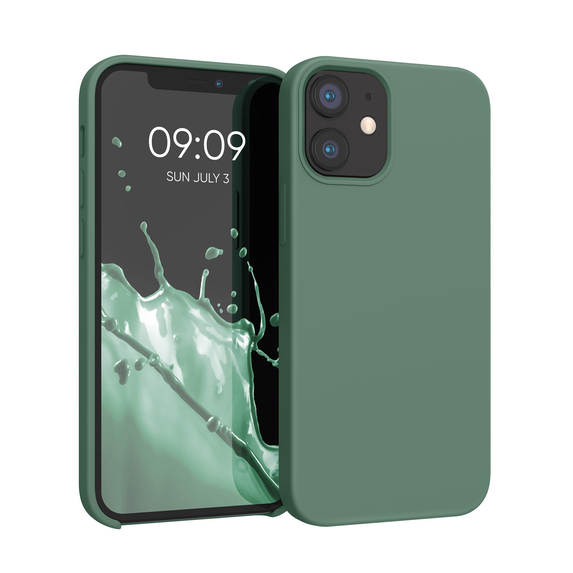 Kvalitní silikonové TPU pouzdro pro Apple iPhone 12 mini - Forest Green