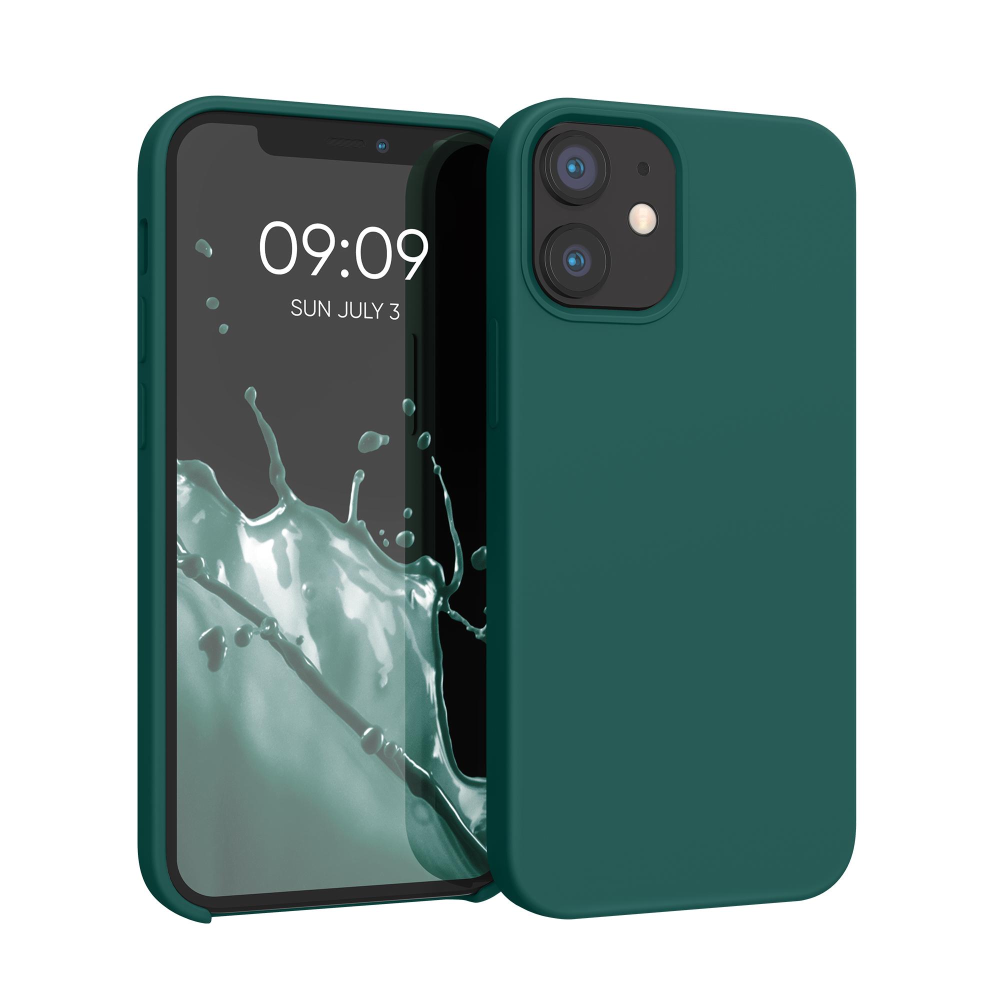 Kvalitní silikonové TPU pouzdro pro Apple iPhone 12 mini - Turquoise Green