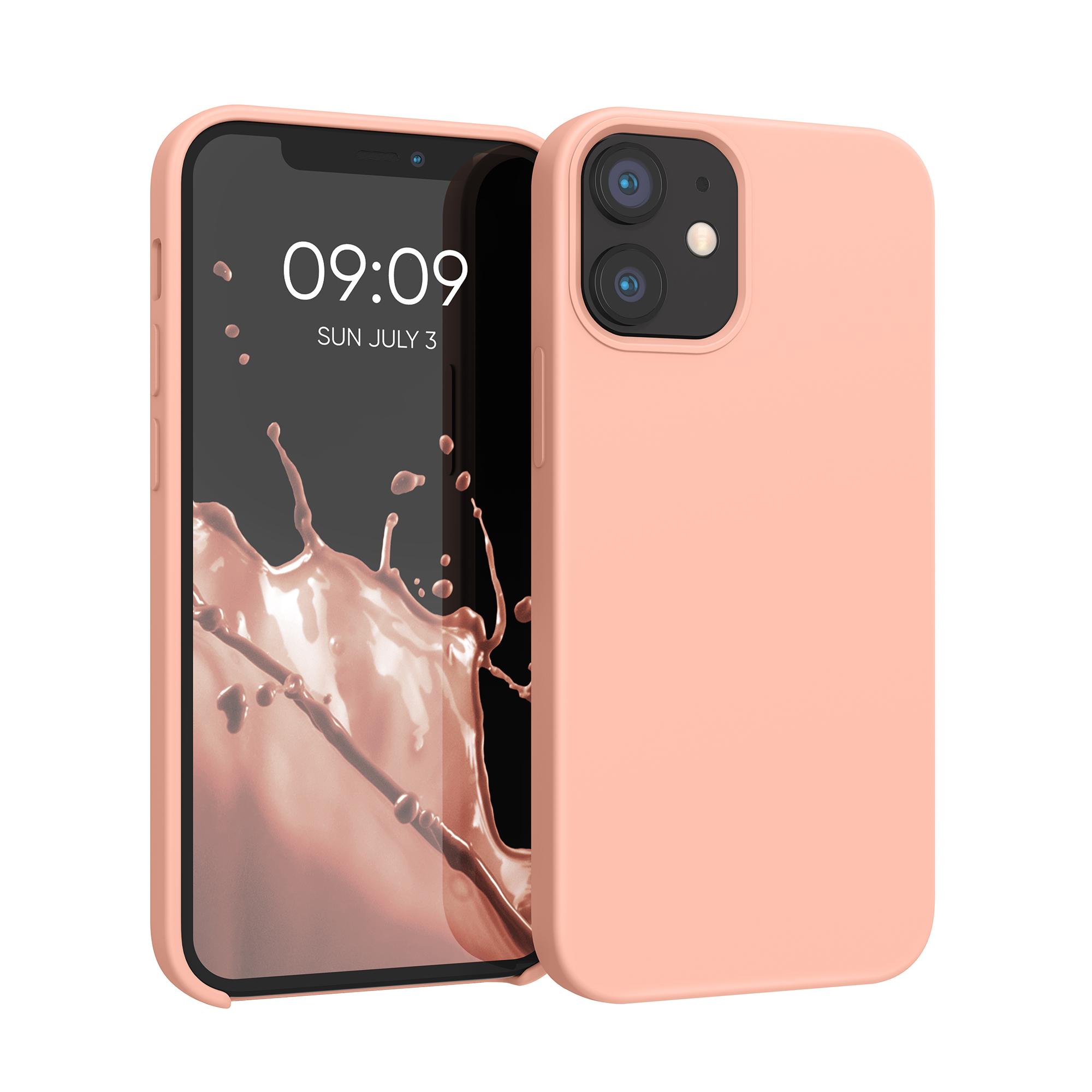 Kvalitní silikonové TPU pouzdro pro Apple iPhone 12 mini - grapefruit Růžový