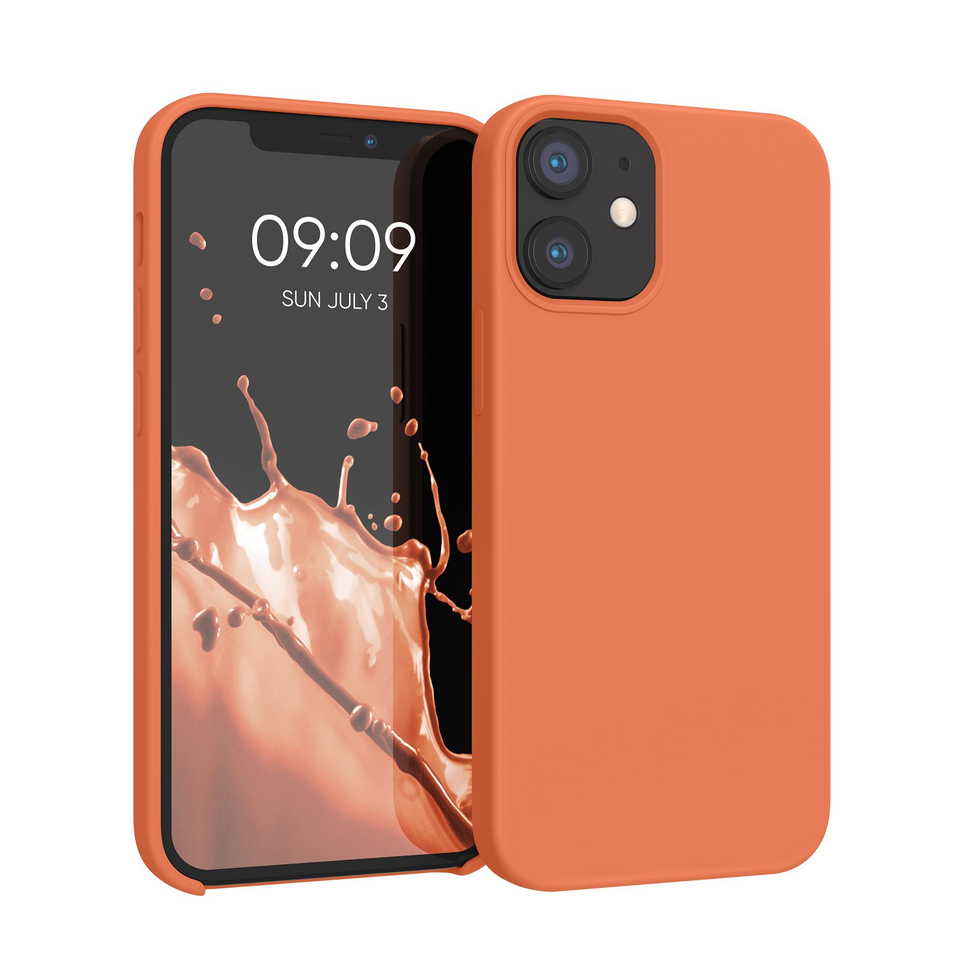 Kvalitní silikonové TPU pouzdro pro Apple iPhone 12 mini - Sunrise Orange