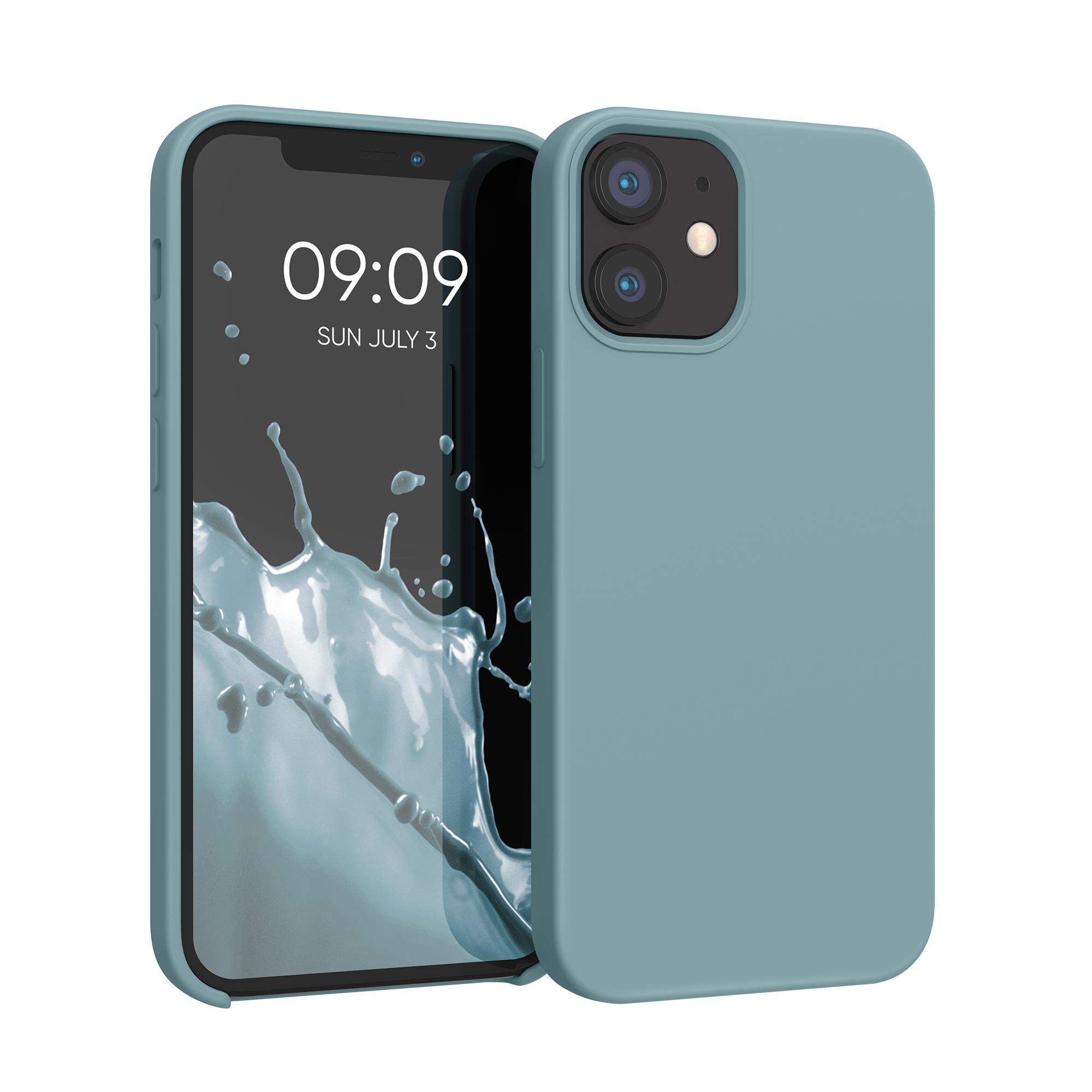 Kvalitní silikonové TPU pouzdro pro Apple iPhone 12 mini - kámen Modrá