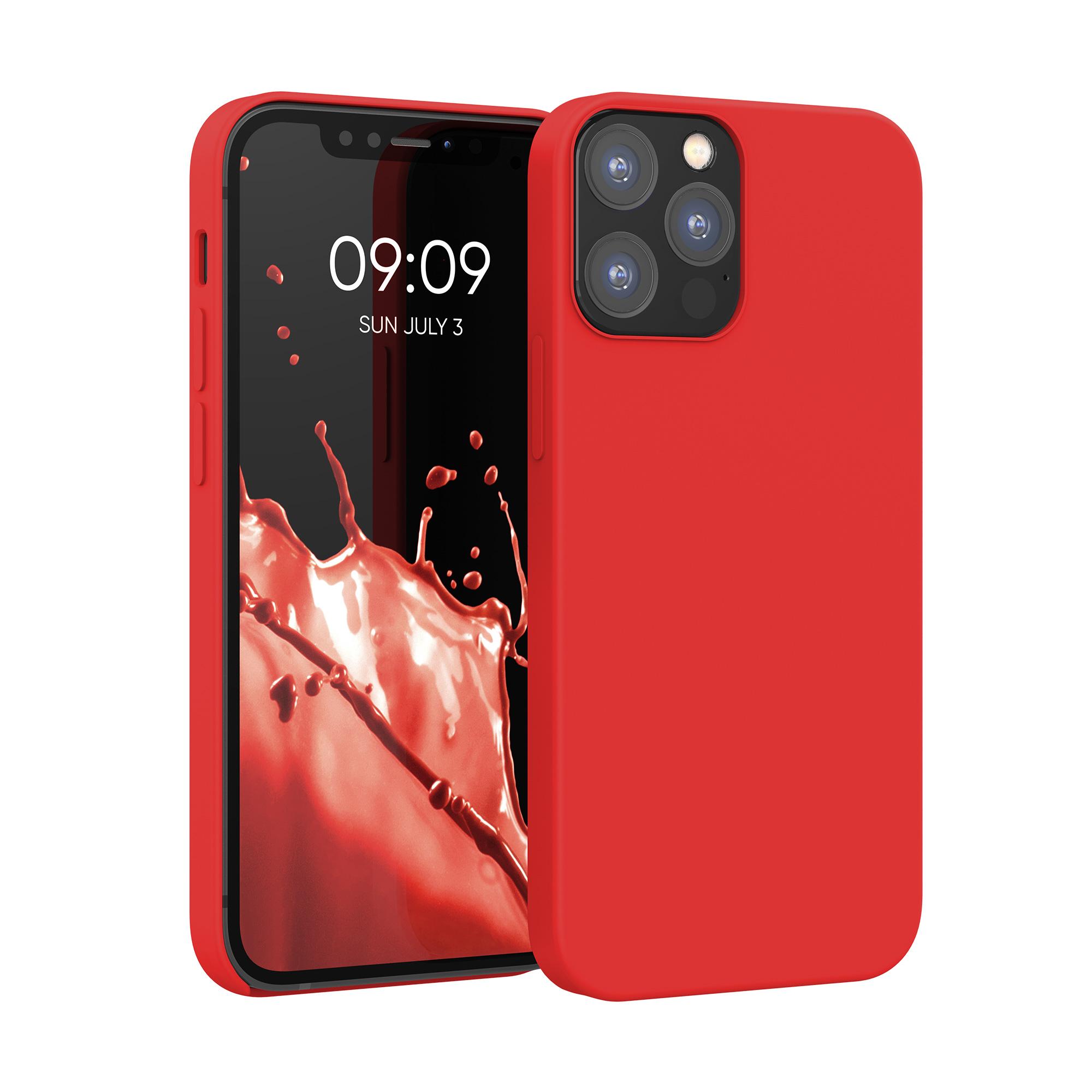 Kvalitní silikonové TPU pouzdro pro Apple iPhone 12 / 12 Pro - Červené