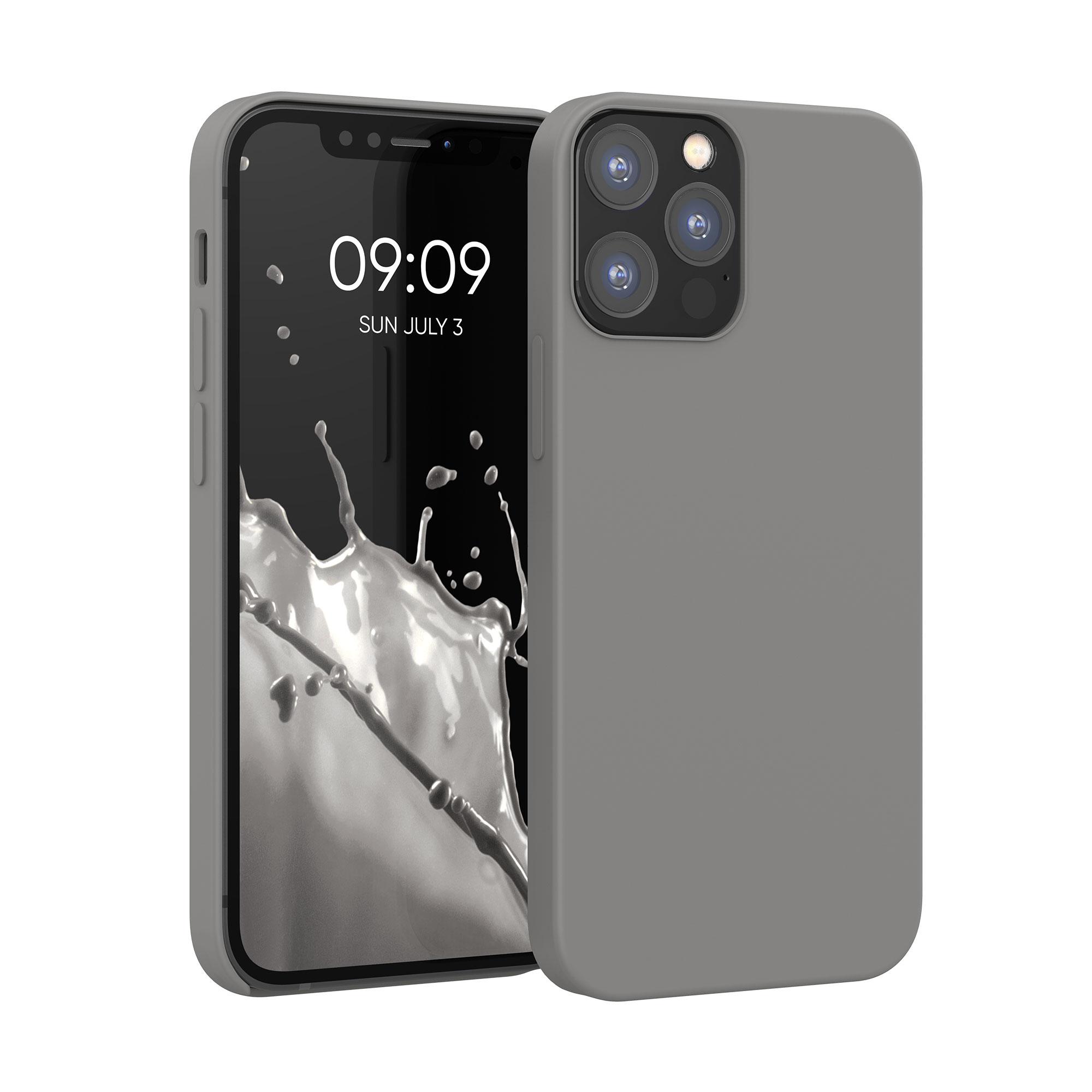 Kvalitní silikonové TPU pouzdro pro Apple iPhone 12 / 12 Pro - Titanium Gray