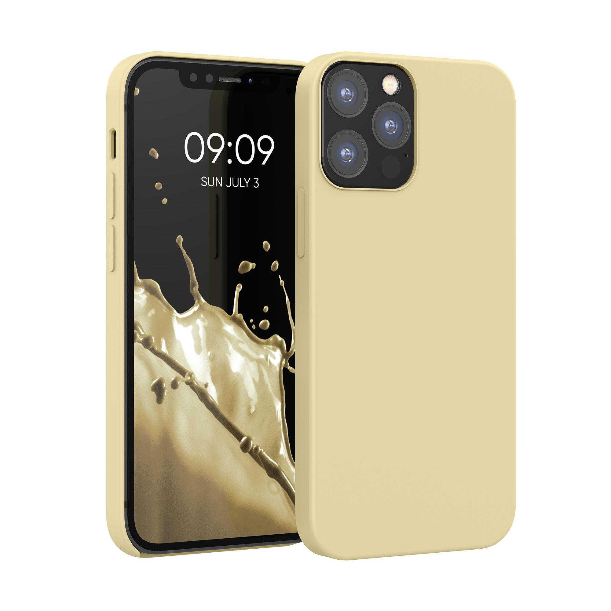 Kvalitní silikonové TPU pouzdro pro Apple iPhone 12 / 12 Pro - Světle žlutá