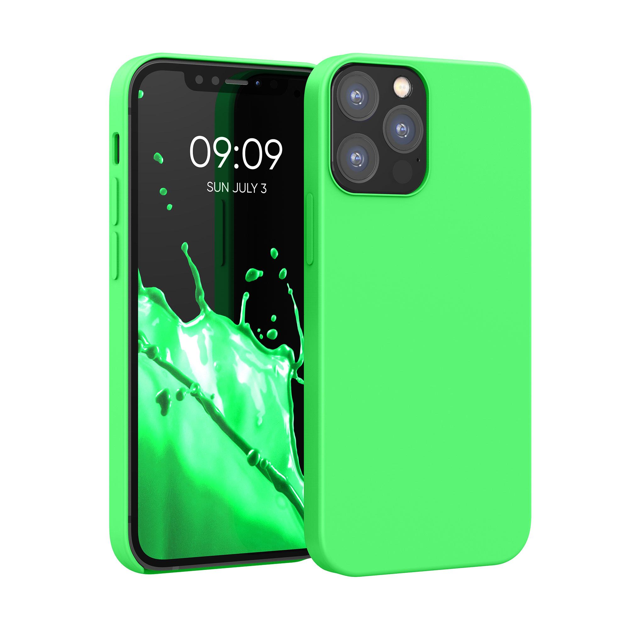 Kvalitní silikonové TPU pouzdro pro Apple iPhone 12 / 12 Pro - Limetkově zelená