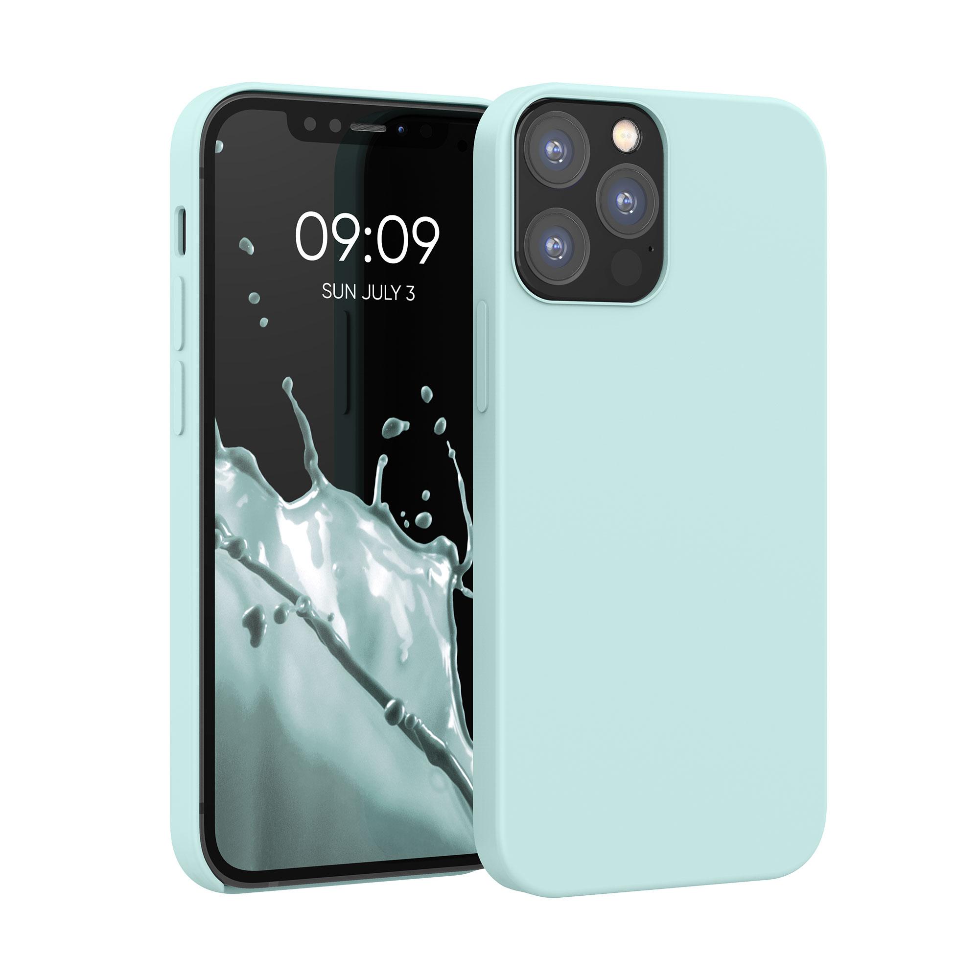 Kvalitní silikonové TPU pouzdro pro Apple iPhone 12 / 12 Pro - Frosty Mint
