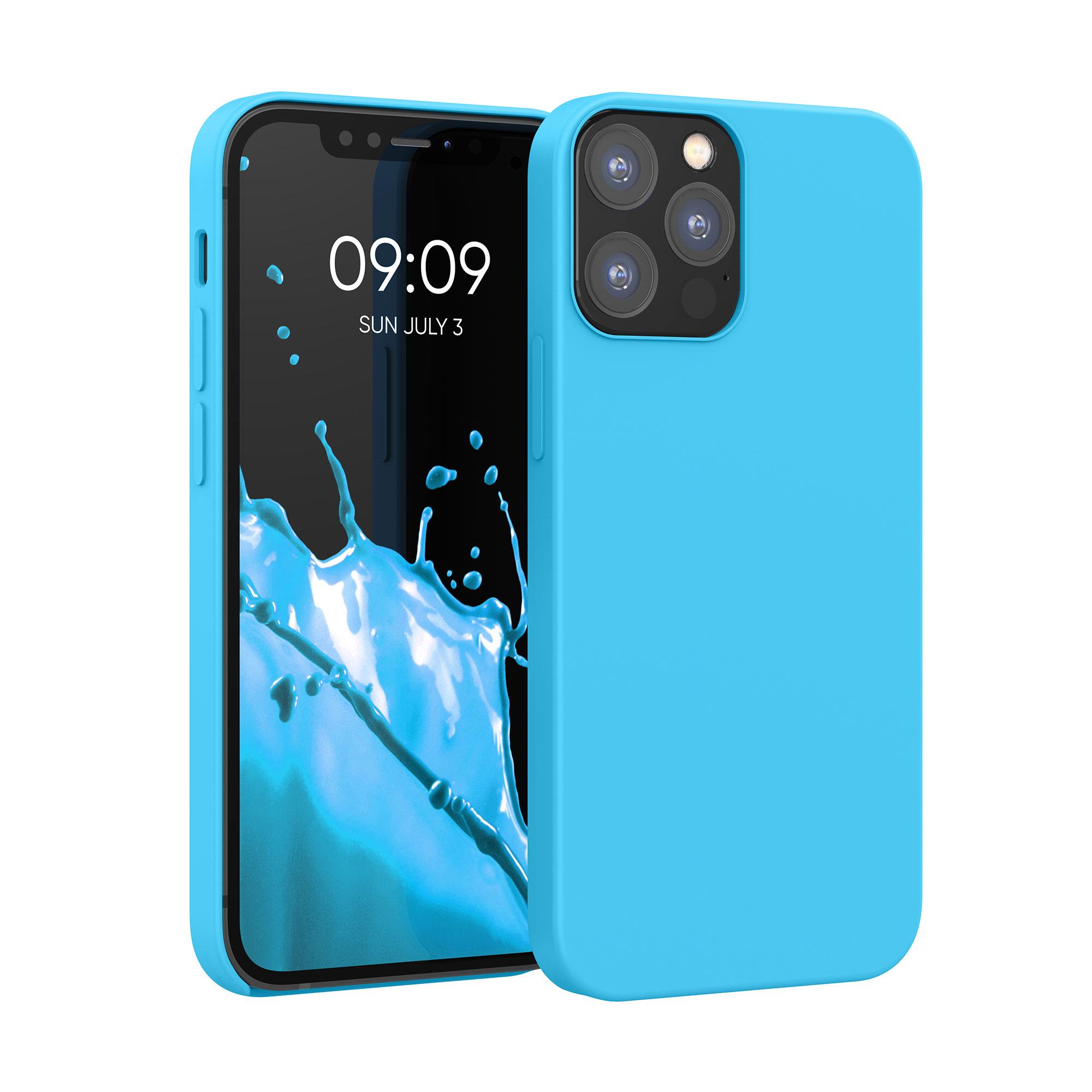 Kvalitní silikonové TPU pouzdro pro Apple iPhone 12 / 12 Pro - Ledová modř