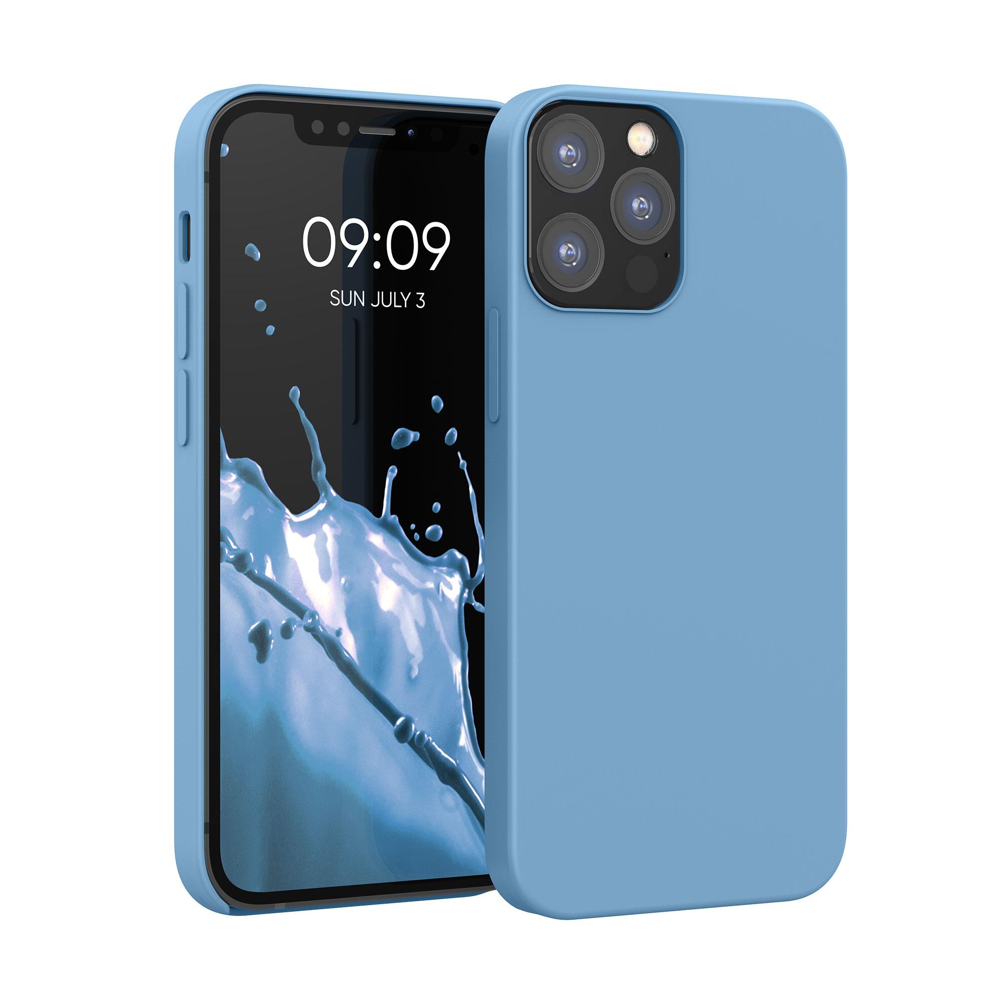 Kvalitní silikonové TPU pouzdro pro Apple iPhone 12 / 12 Pro - kámen Modrá