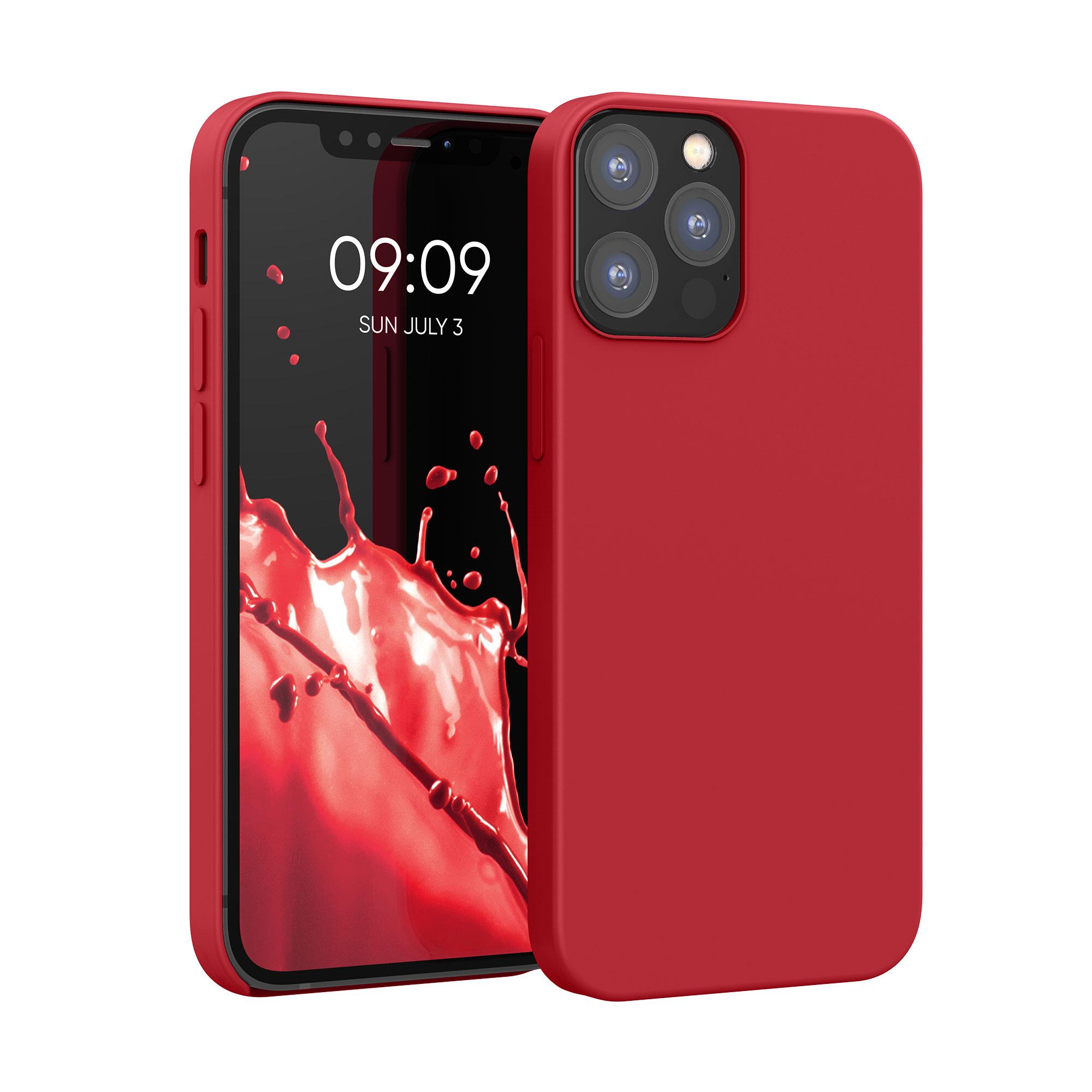 Kvalitní silikonové TPU pouzdro pro Apple iPhone 12 / 12 Pro - Rococo Red