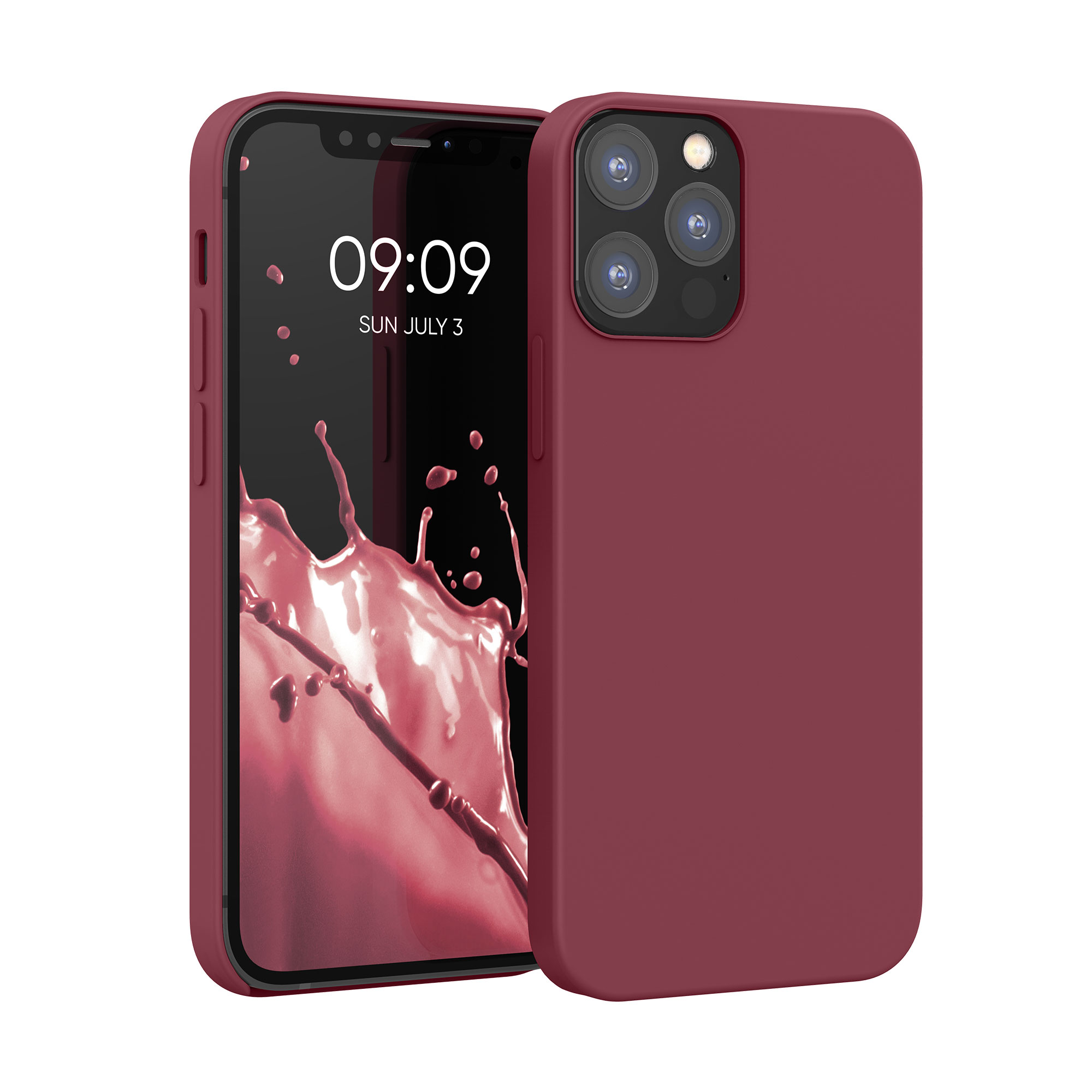 Kvalitní silikonové TPU pouzdro pro Apple iPhone 12 / 12 Pro - rebarbora Red