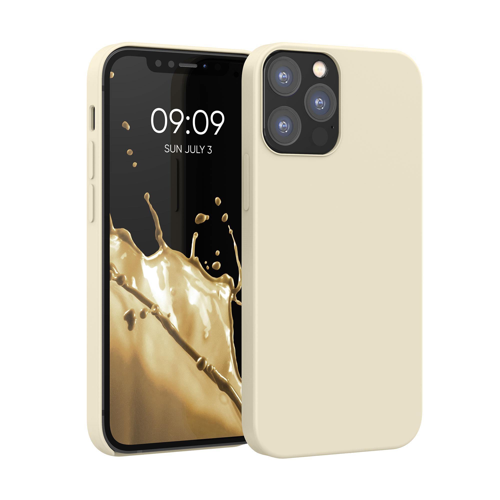Kvalitní silikonové TPU pouzdro pro Apple iPhone 12 / 12 Pro - krémem