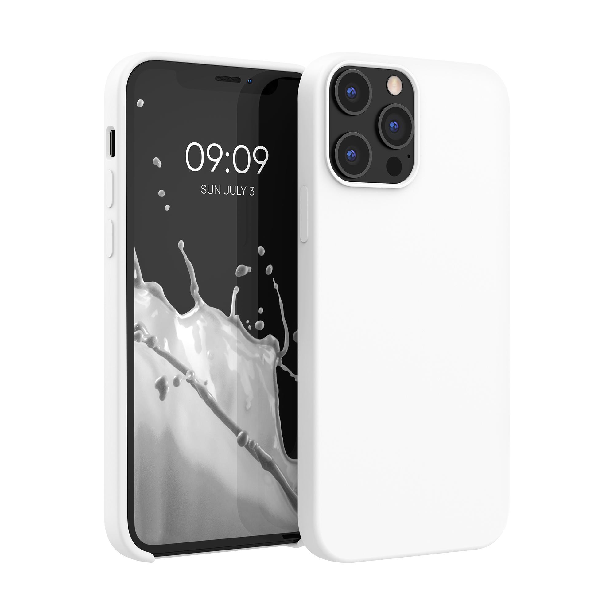 Kvalitní silikonové TPU pouzdro pro Apple iPhone 12 Pro Max - Bílý