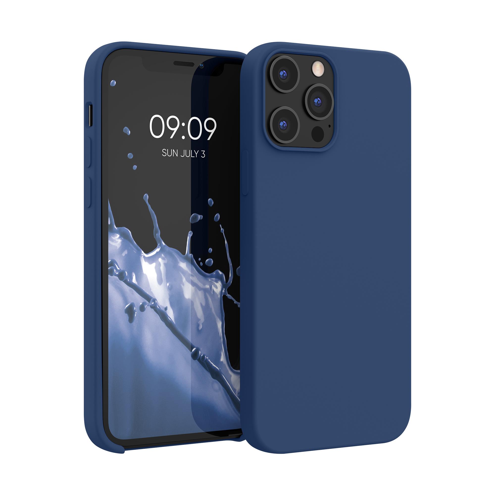 Kvalitní silikonové TPU pouzdro pro Apple iPhone 12 Pro Max - Námořnická modrá
