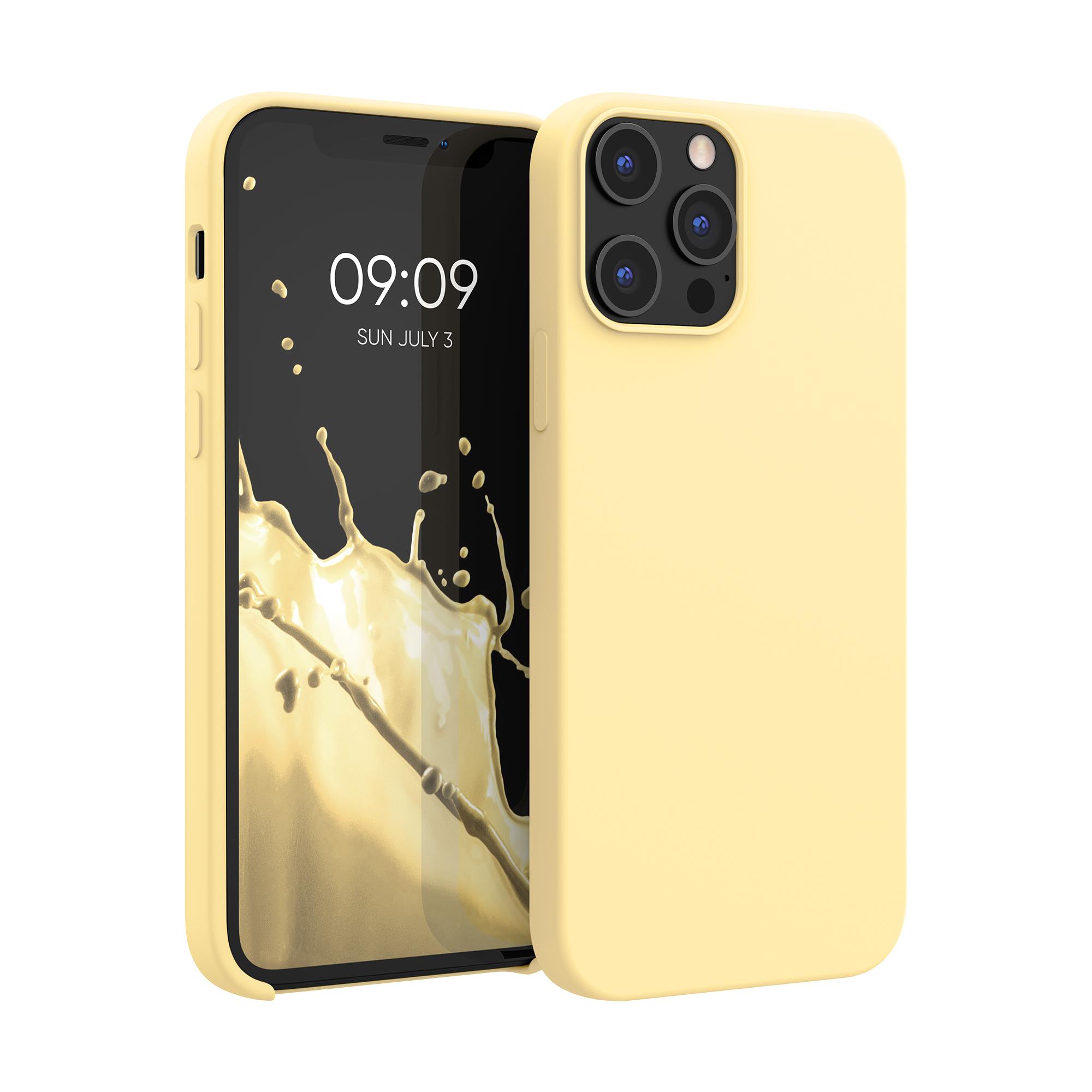 Kvalitní silikonové TPU pouzdro pro Apple iPhone 12 Pro Max - Světle žlutá
