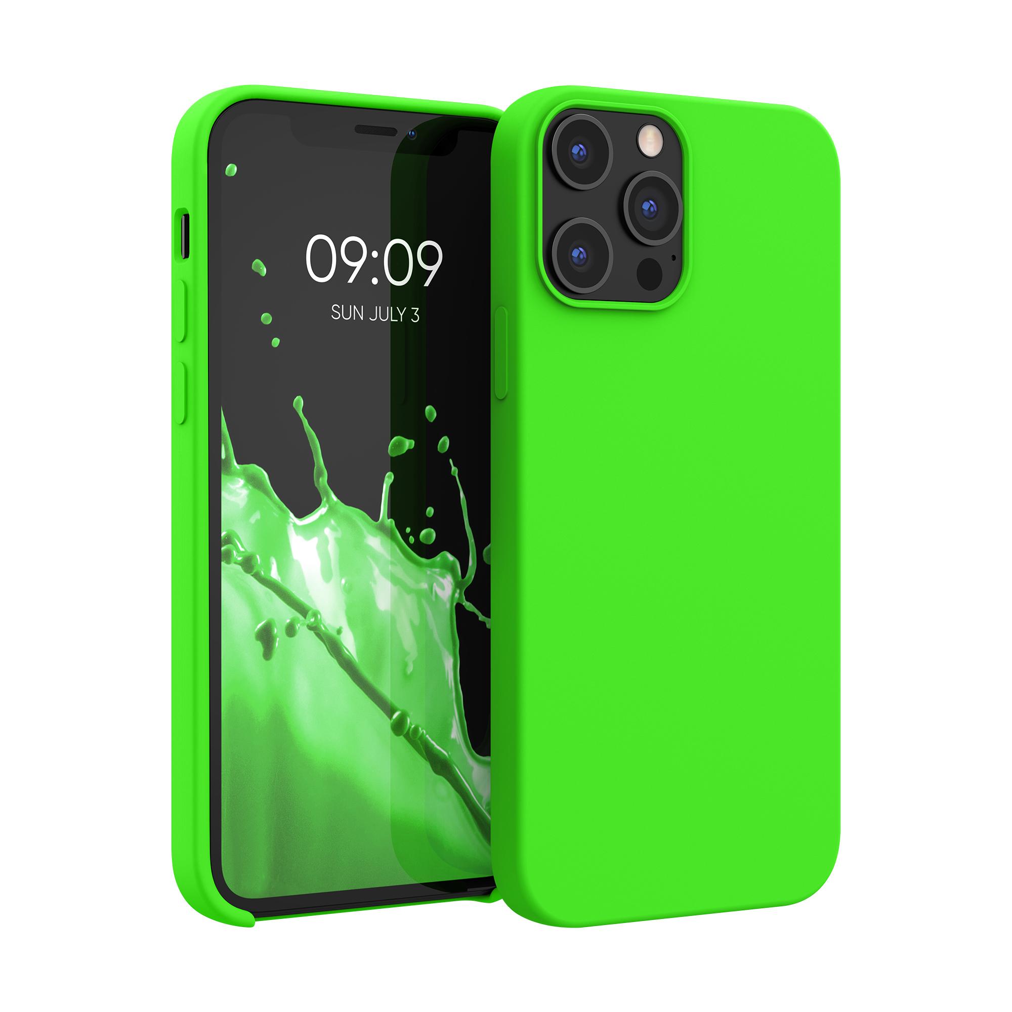 Kvalitní silikonové TPU pouzdro pro Apple iPhone 12 Pro Max - Limetkově zelená