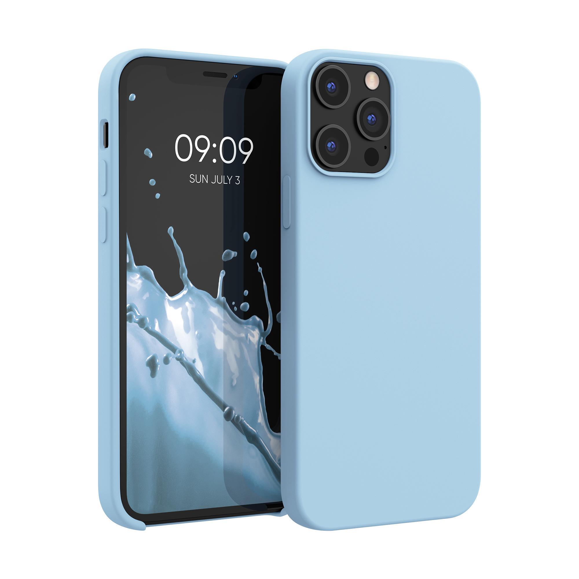 Kvalitní silikonové TPU pouzdro pro Apple iPhone 12 Pro Max - Dove Modrá