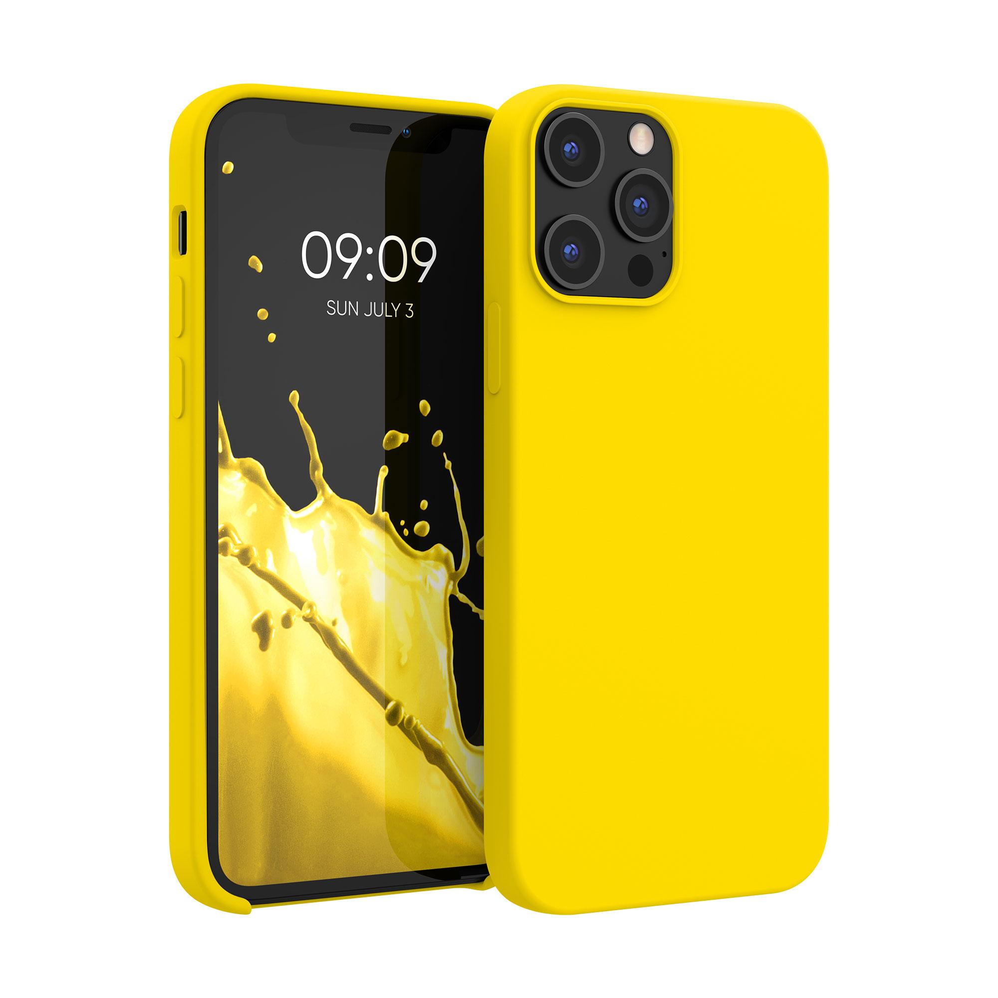 Kvalitní silikonové TPU pouzdro pro Apple iPhone 12 Pro Max - Vibrant Yellow
