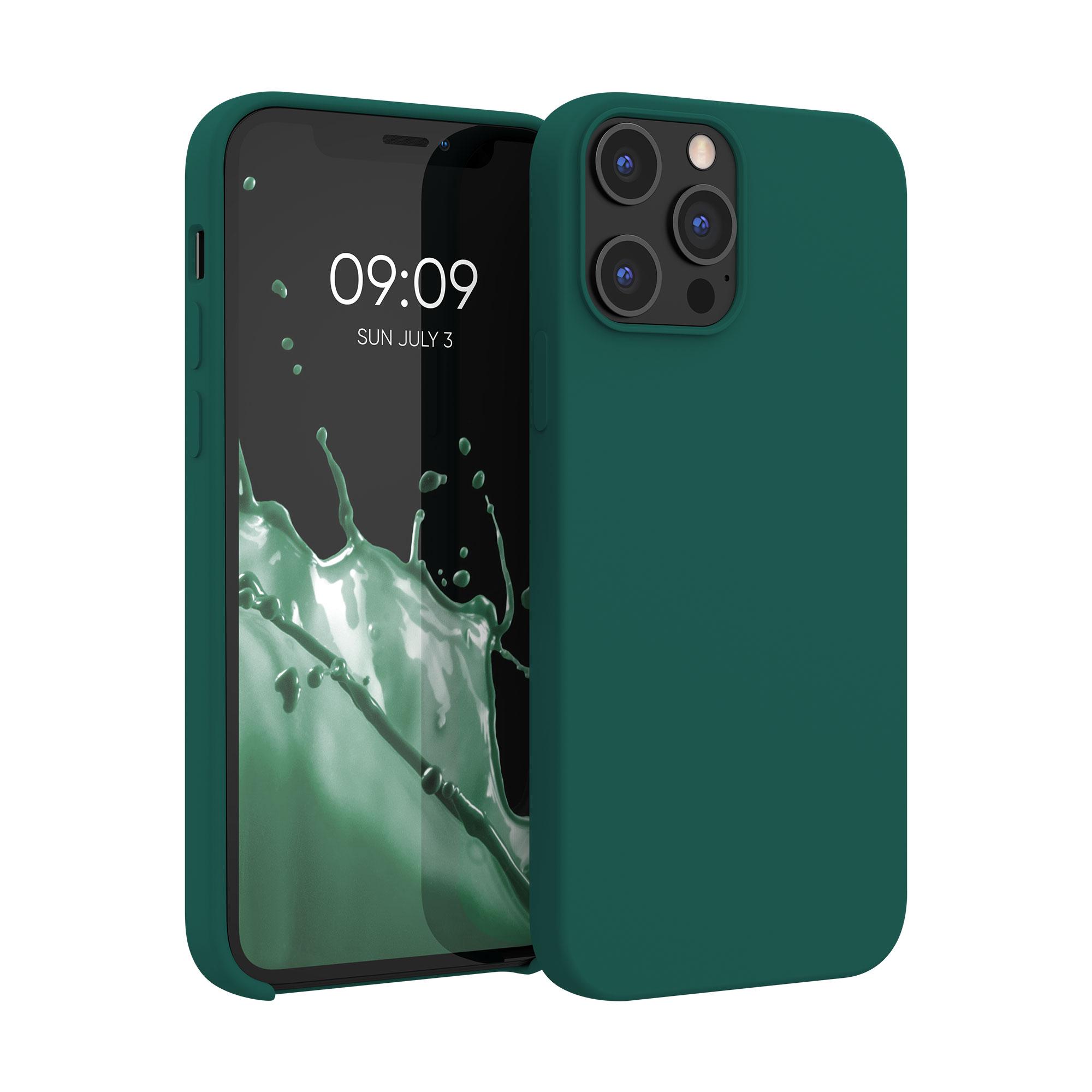 Kvalitní silikonové TPU pouzdro pro Apple iPhone 12 Pro Max - Turquoise Green