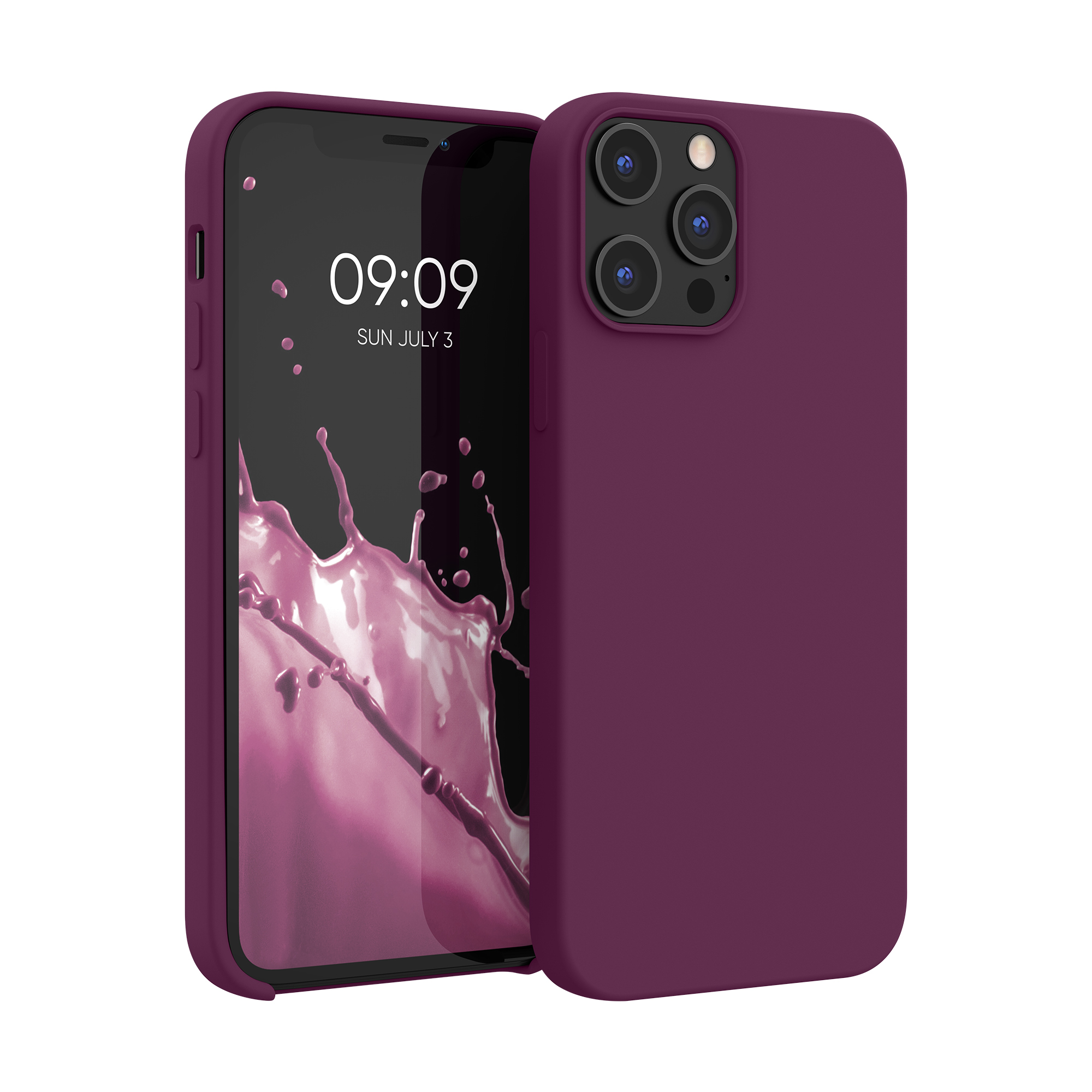 Kvalitní silikonové TPU pouzdro pro Apple iPhone 12 Pro Max - Bordeaux Violet