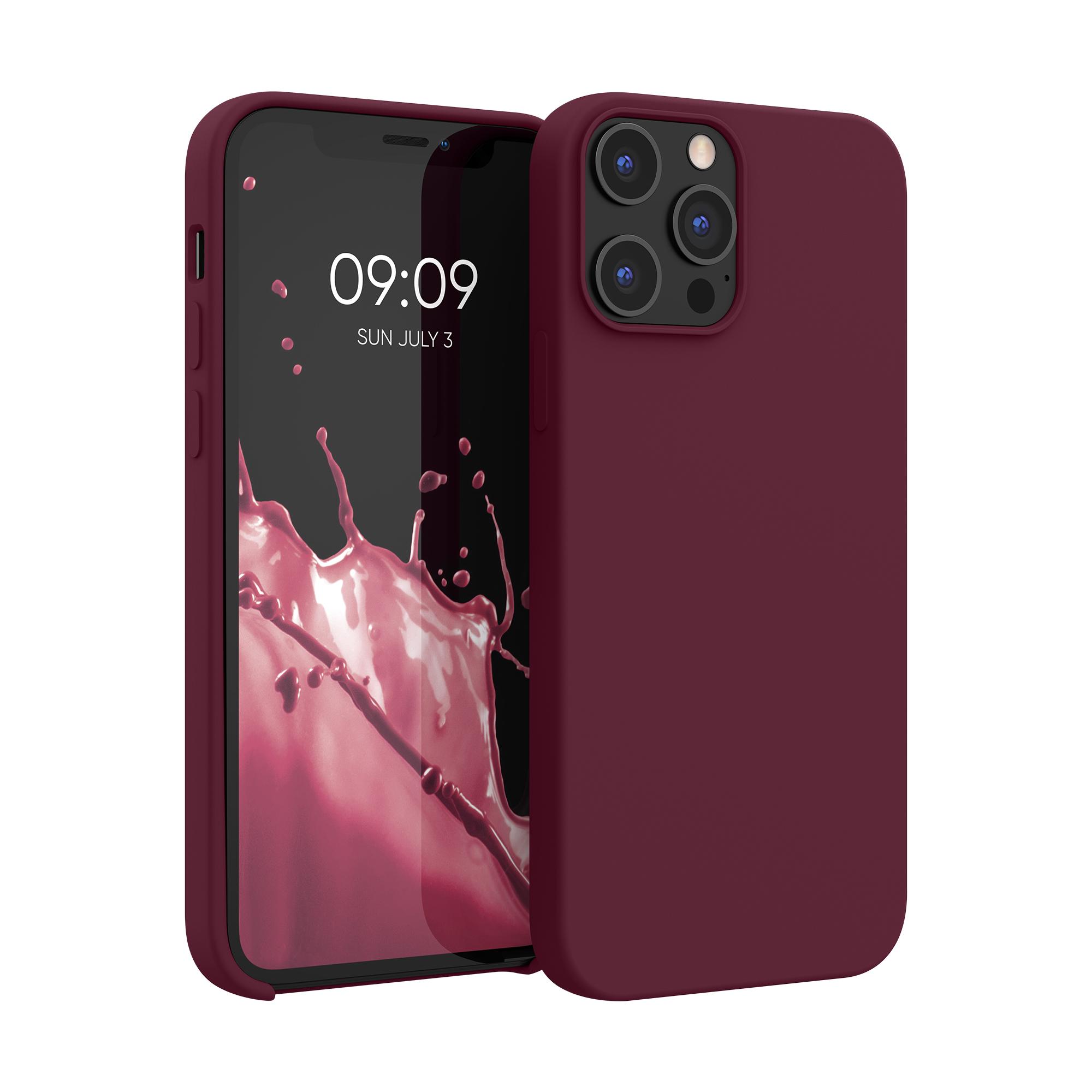 Kvalitní silikonové TPU pouzdro pro Apple iPhone 12 Pro Max - Tawny Red