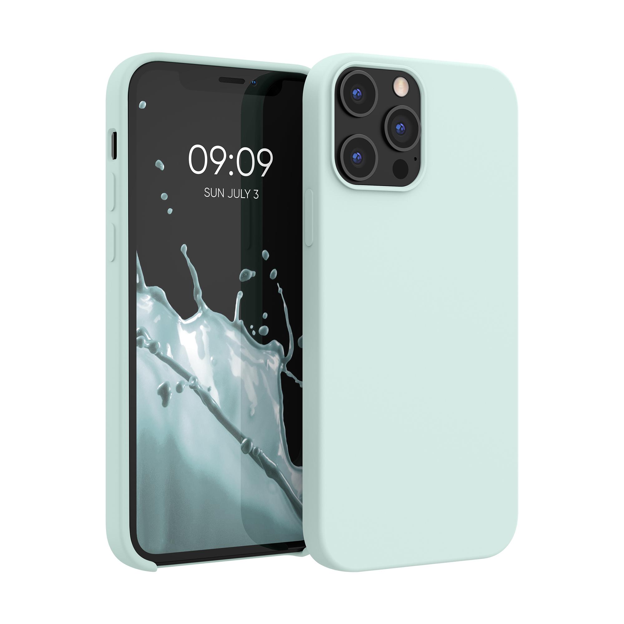 Kvalitní silikonové TPU pouzdro pro Apple iPhone 12 Pro Max - Frosty Mint