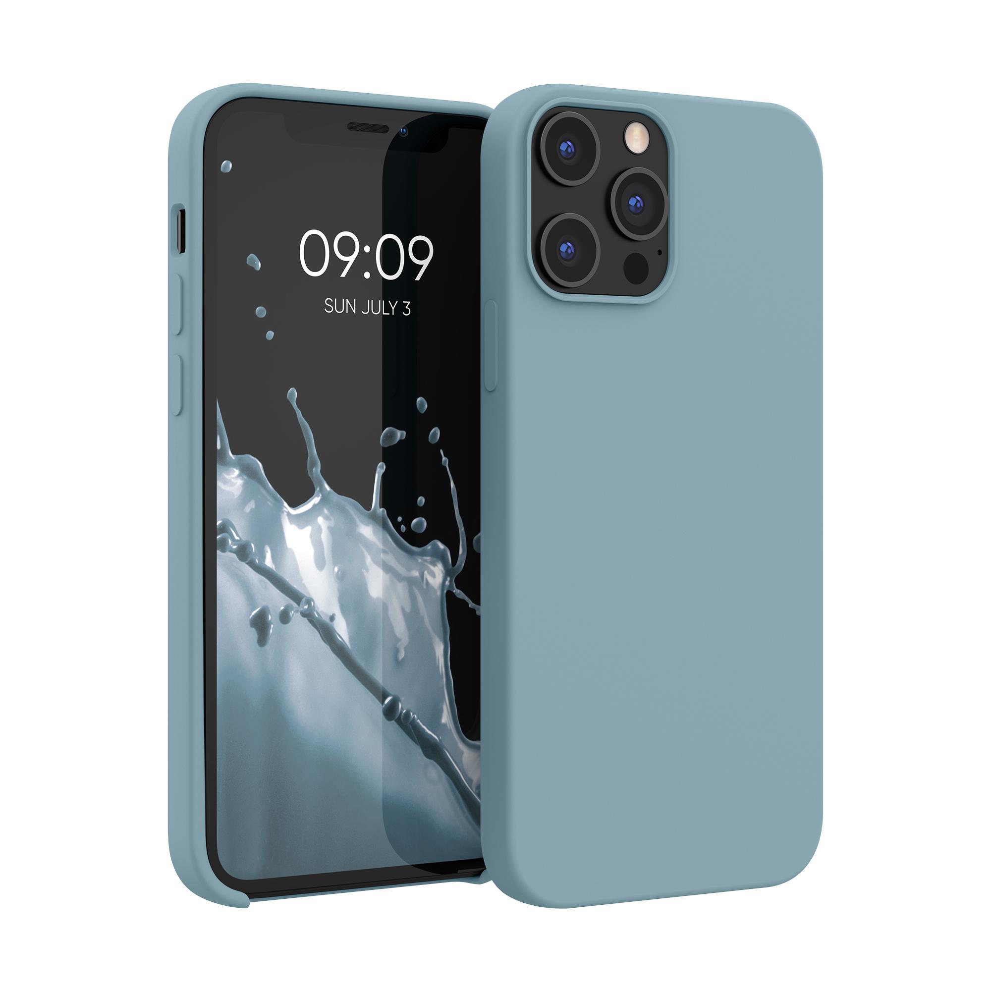 Kvalitní silikonové TPU pouzdro pro Apple iPhone 12 Pro Max - kámen Modrá