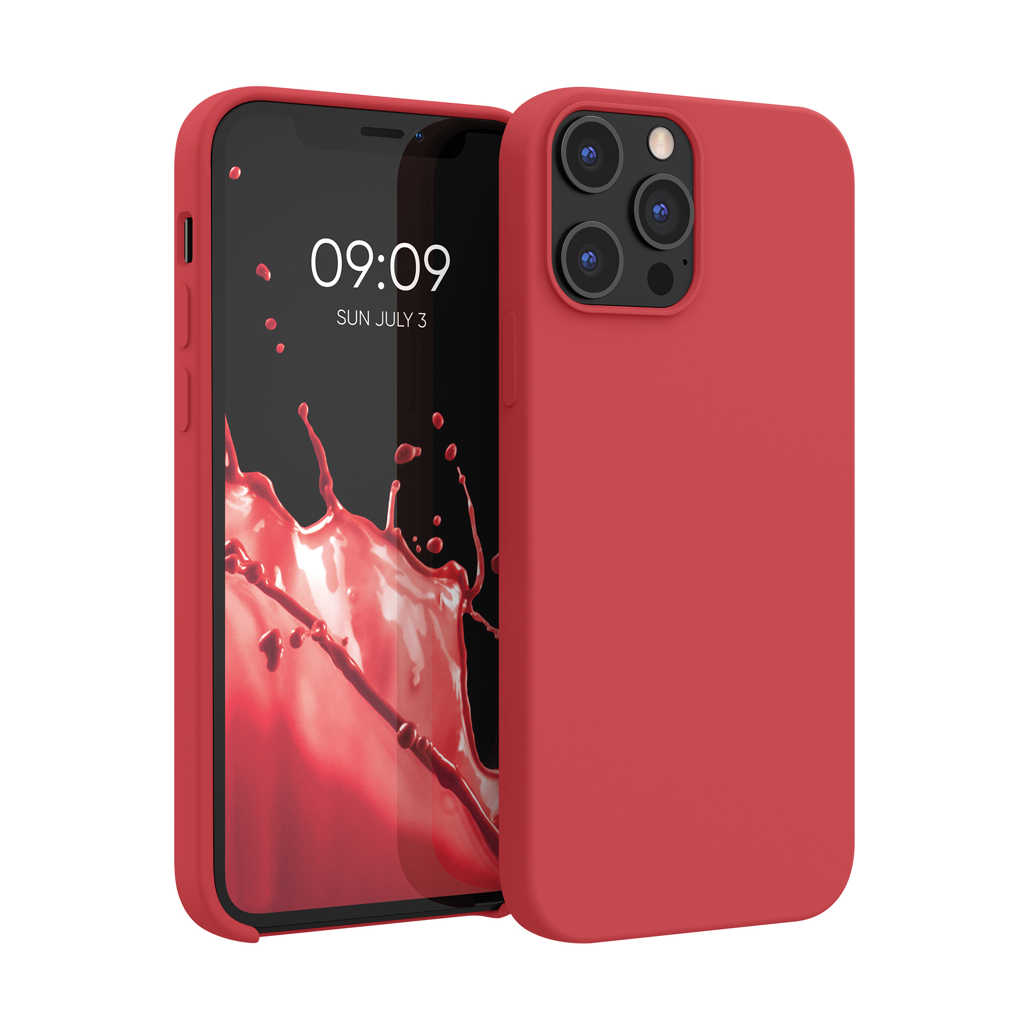 Kvalitní silikonové TPU pouzdro pro Apple iPhone 12 Pro Max - Rococo Red