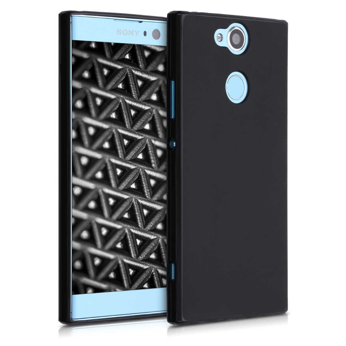 Kvalitní silikonové TPU pouzdro | obal pro Sony Xperia XA2 - černé matné