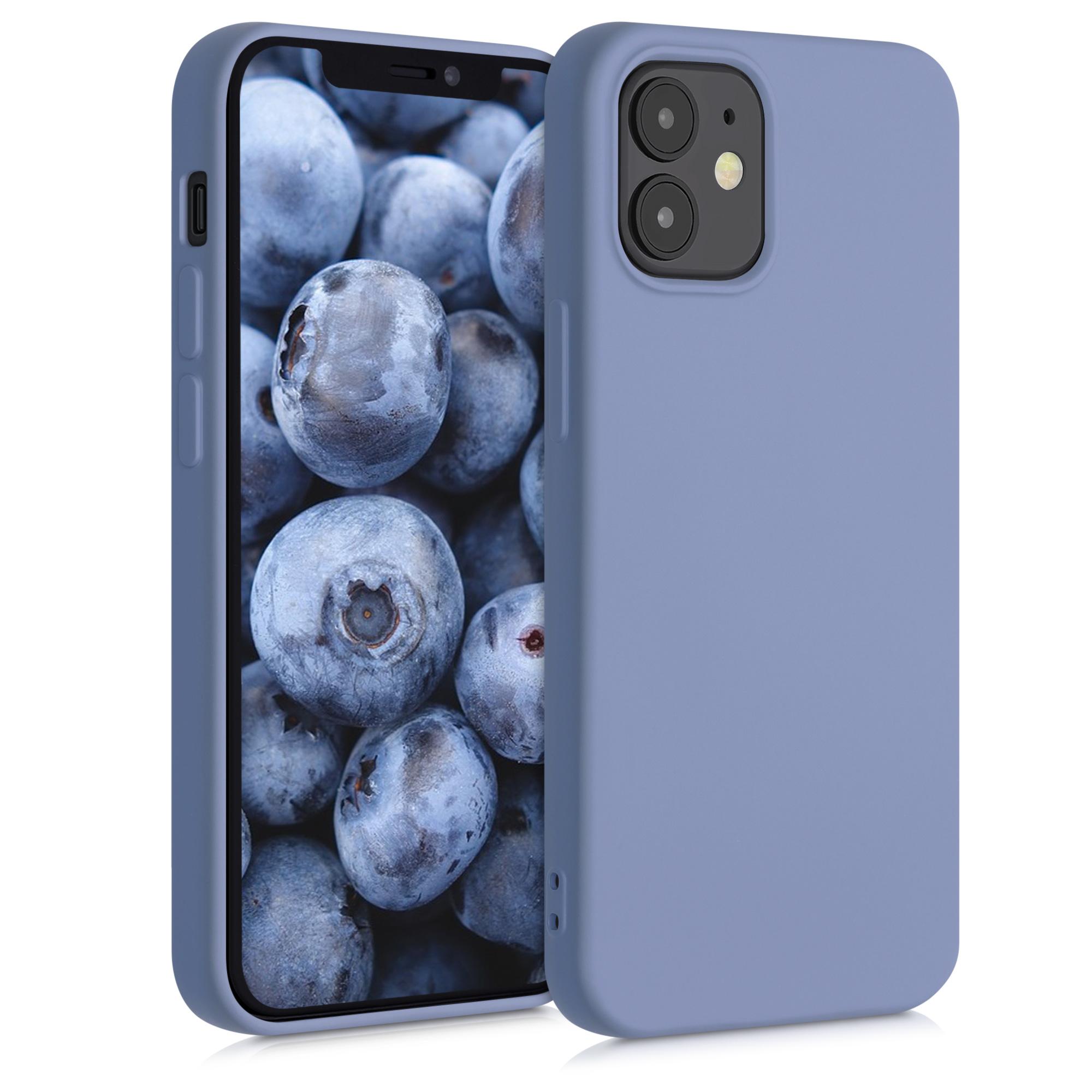 Kvalitní silikonové TPU pouzdro pro Apple iPhone 12 mini - modrá Šedá