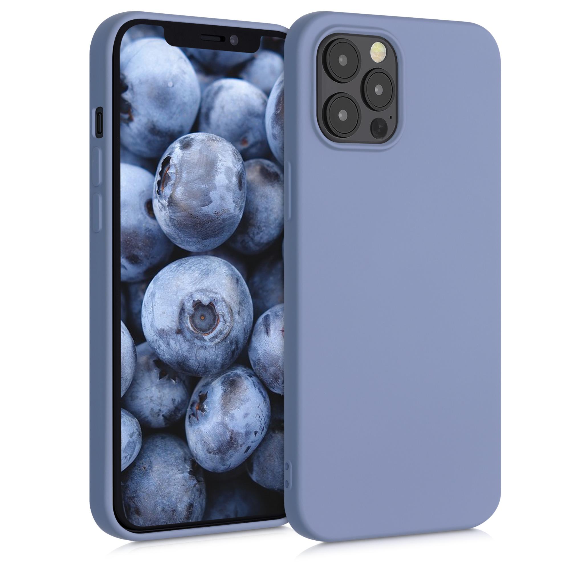 Kvalitní silikonové TPU pouzdro pro Apple iPhone 12 Pro Max - modrá Šedá