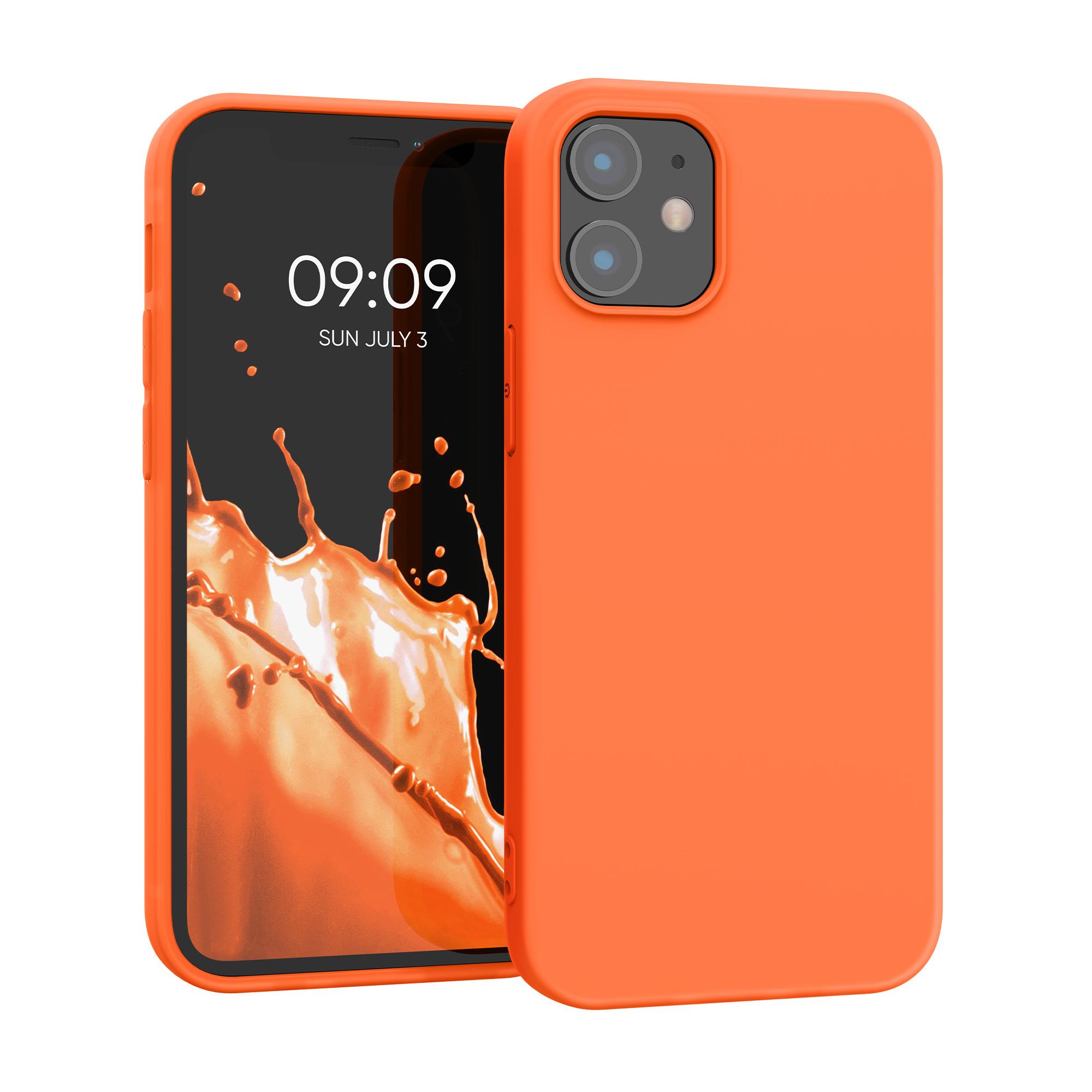 Kvalitní silikonové TPU pouzdro pro Apple iPhone 12 mini - Neon Orange