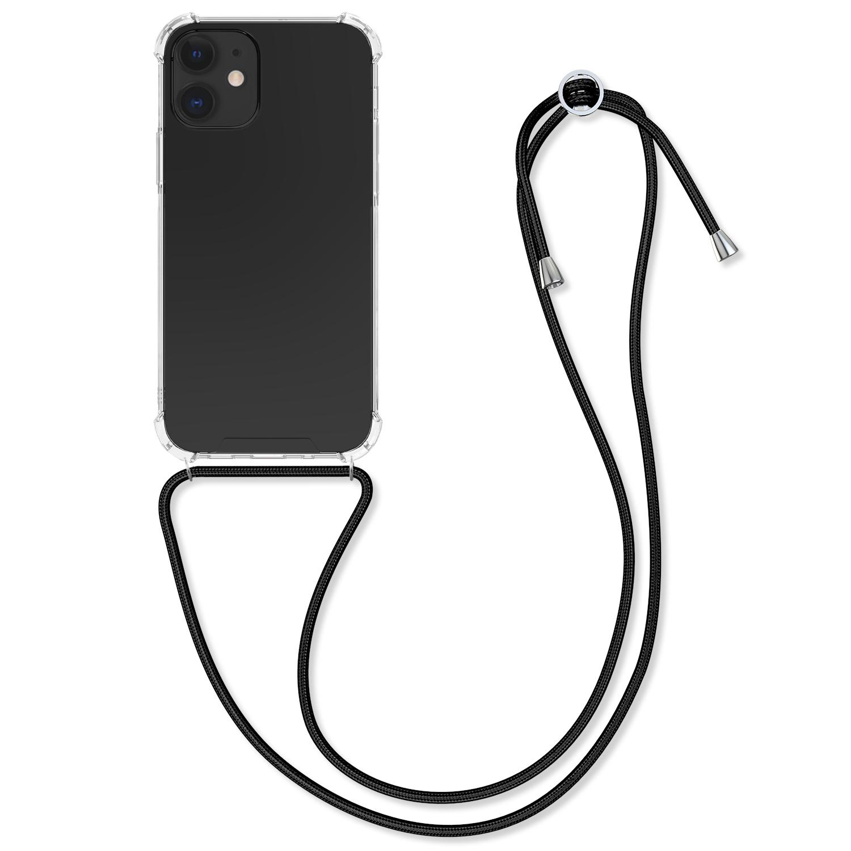 Kvalitní silikonové TPU pouzdro pro Apple iPhone 12 mini - Transparent | Black
