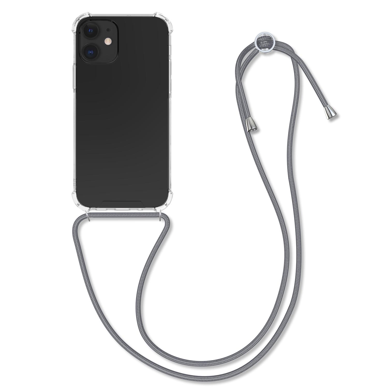 Kvalitní silikonové TPU pouzdro pro Apple iPhone 12 mini - Transparentní | šedý