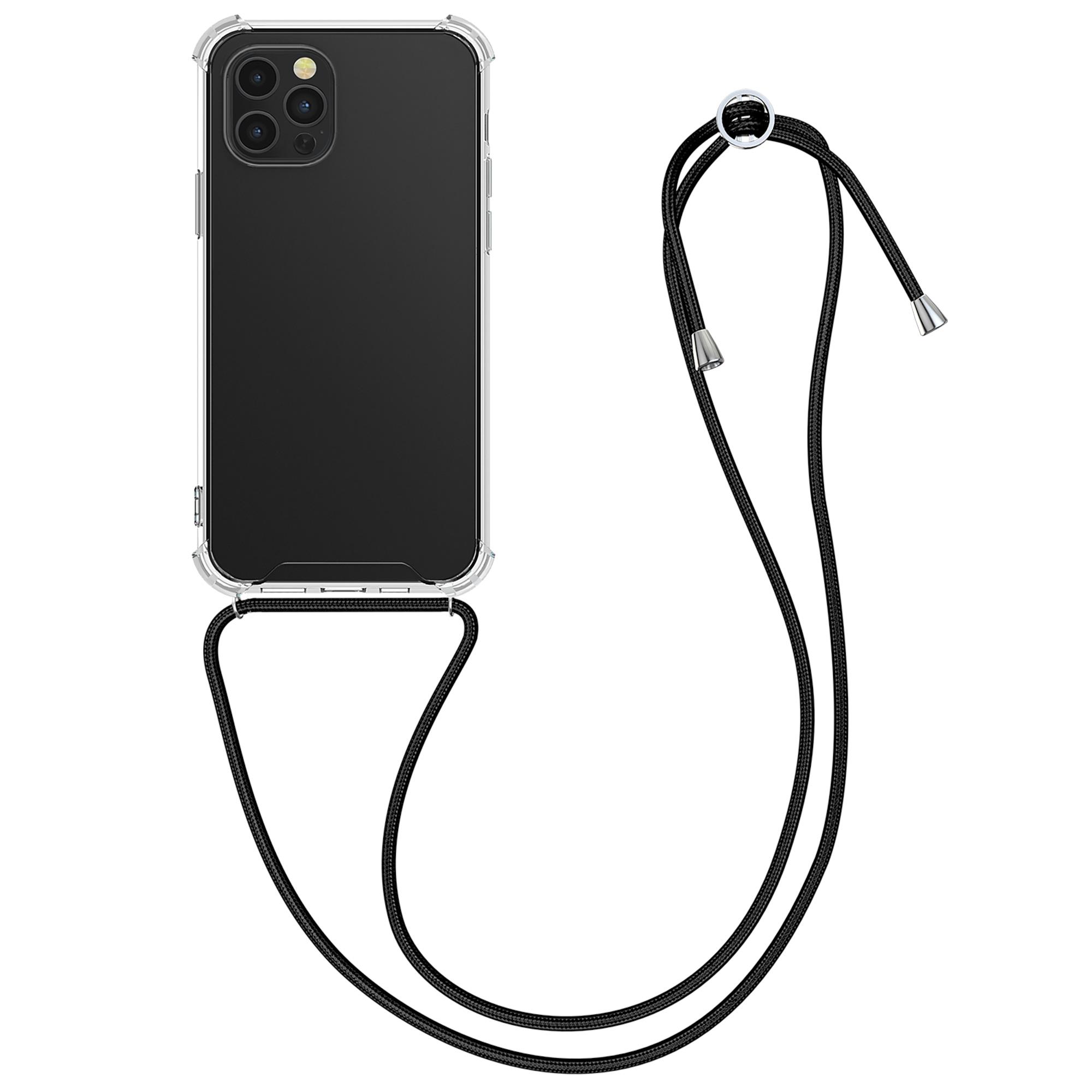 Kvalitní silikonové TPU pouzdro pro Apple iPhone 12 Pro Max - Transparent | Black