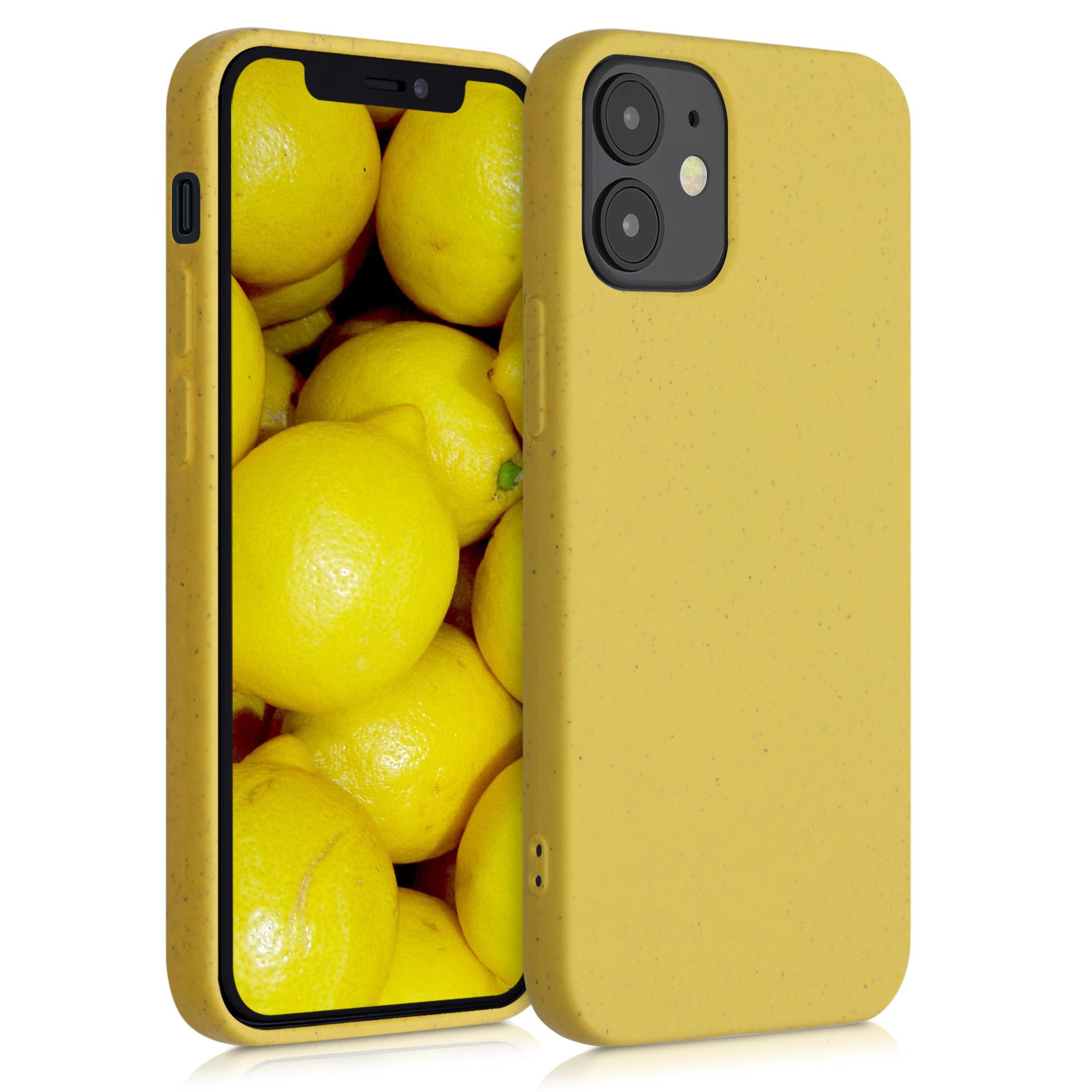 Kvalitní silikonové TPU pouzdro pro Apple iPhone 12 mini - Žlutá