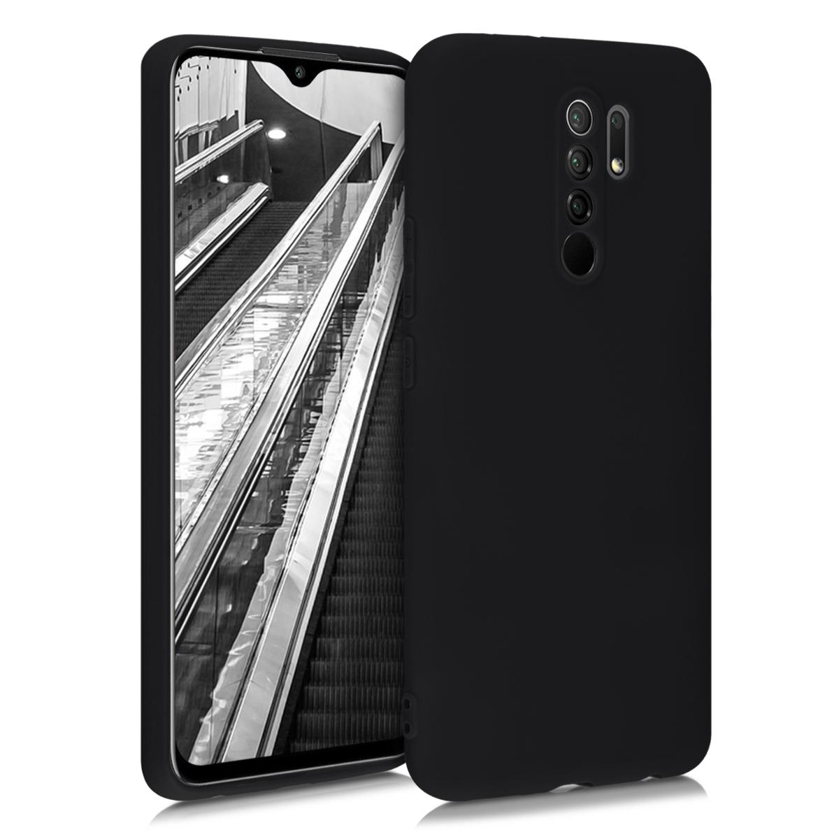 Kvalitní silikonové TPU pouzdro | obal pro Xiaomi Redmi 9 - černý matný